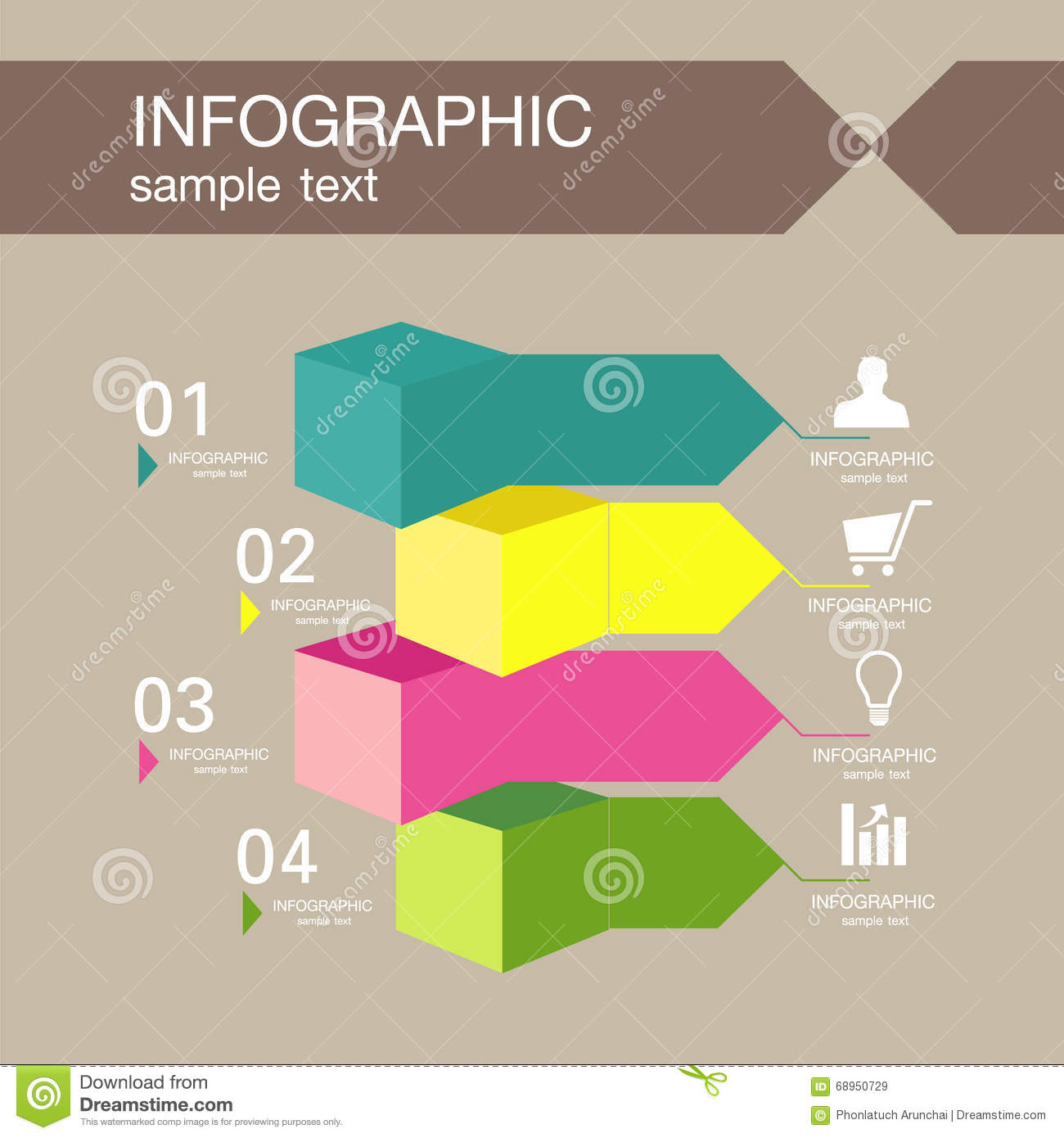 Infographic Design Template With Graphic Elements Set Illustration