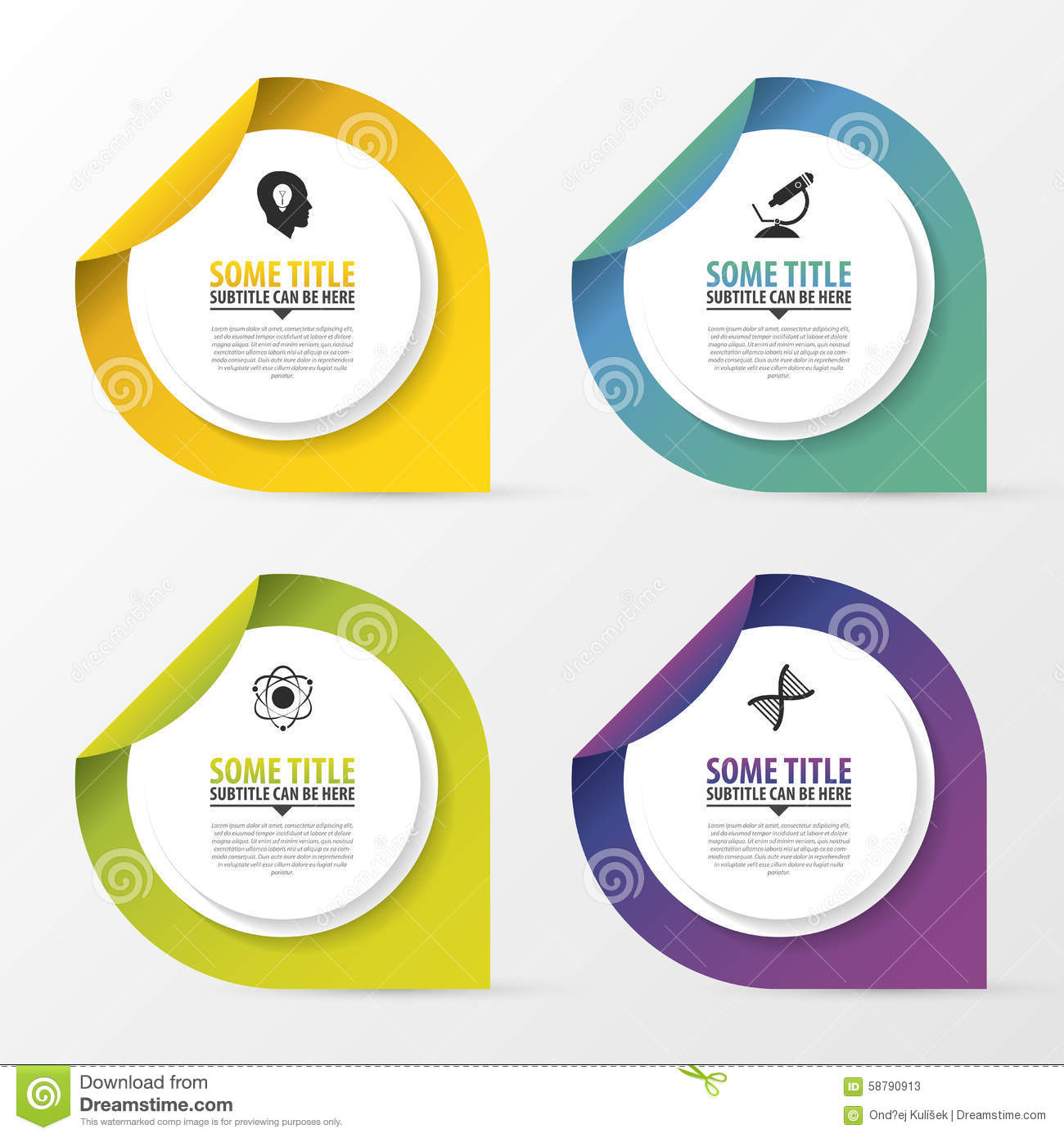infographic design template with pointers  business