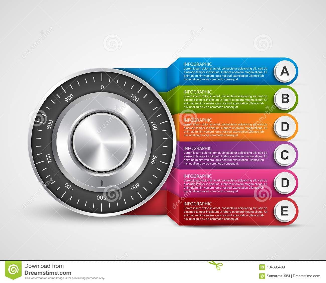 infographic design template  protection information  combination safe lock  design concept