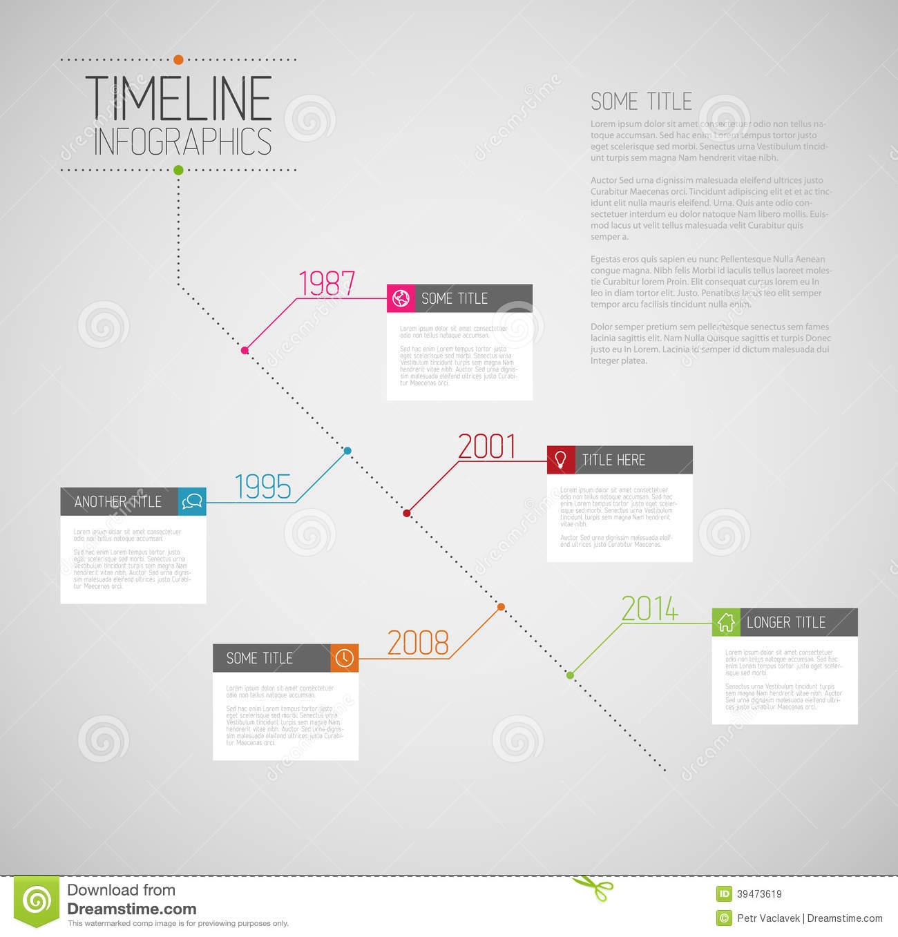 pr timeline template - infographic diagonal timeline report template stock