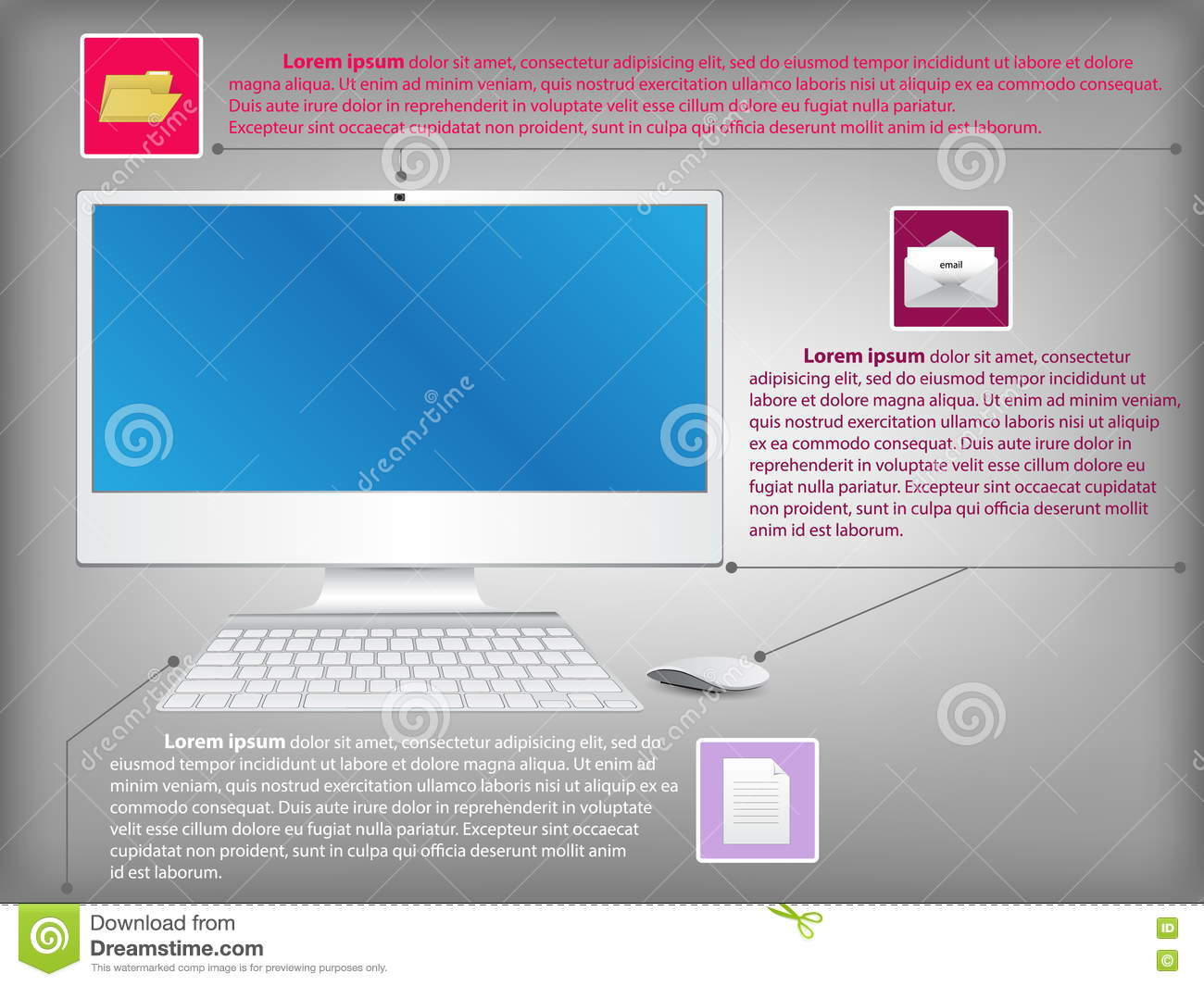 Desktop Computer Diagram Schematics Wiring Diagrams Infographic With Pc Stock Vector Rh Dreamstime Com Power Supply Circuit