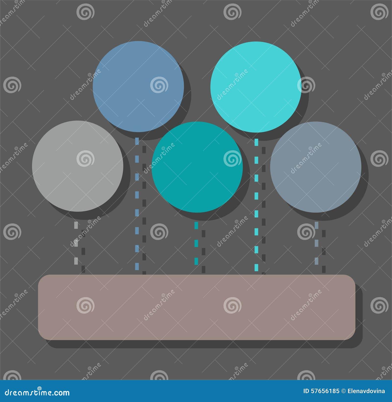 Infographic, diagram, sektory, pięć okregów, jeden prostokąt, kolor, mieszkanie
