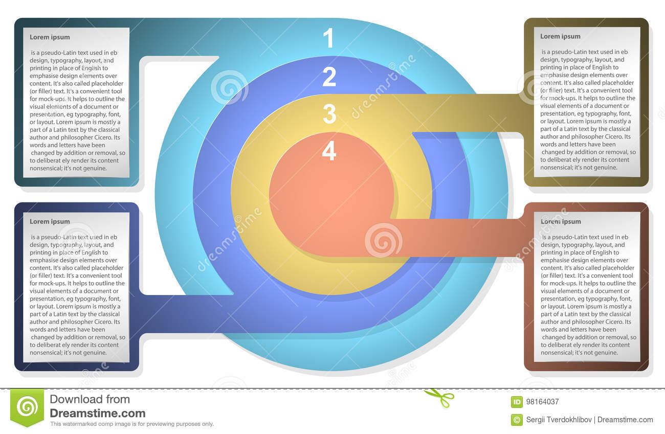 Infographic diagram template with concentric circles for web infographic diagram template with concentric circles for web design presentation graph chart report data pooptronica Choice Image