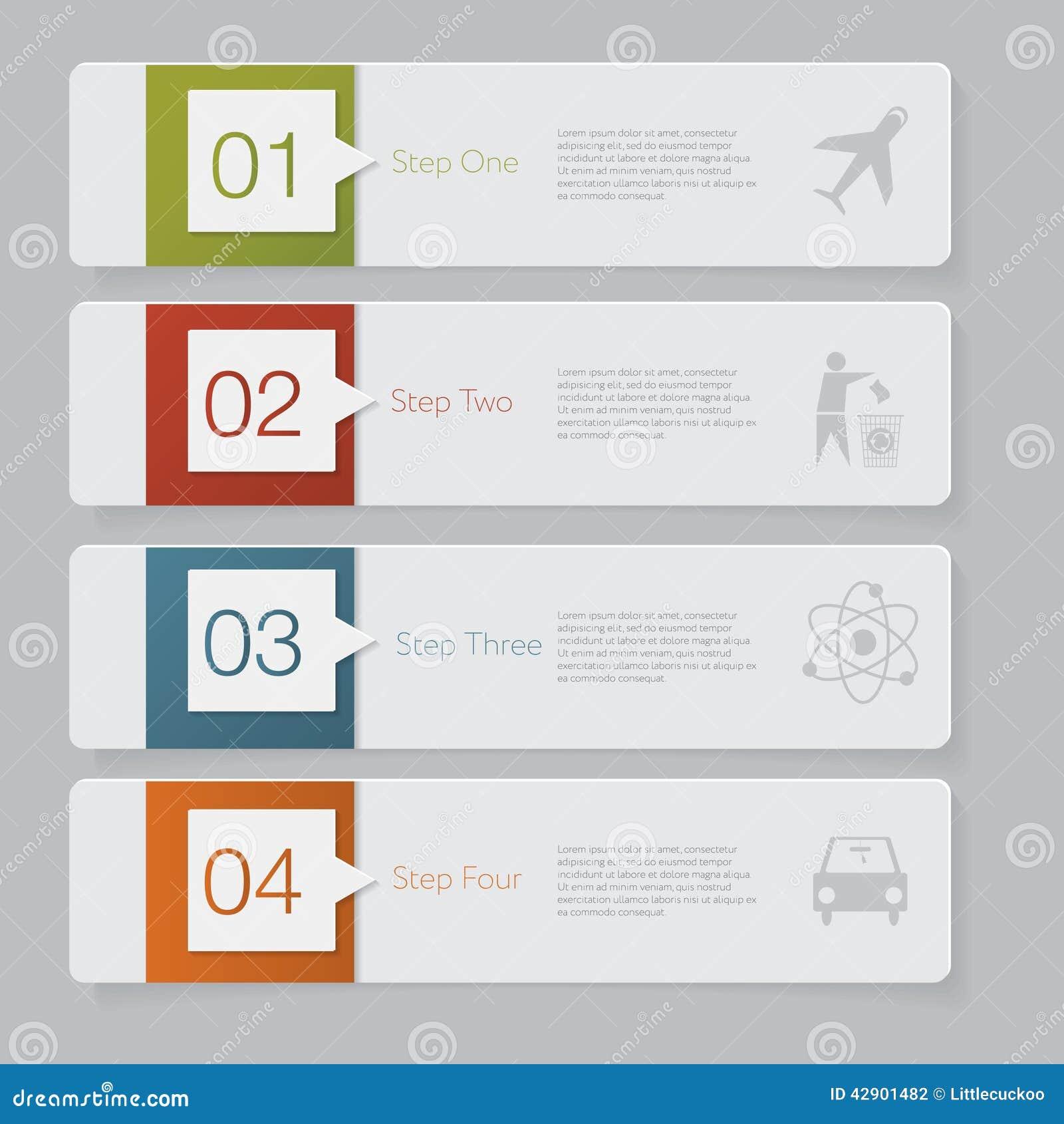Infographic Diseñe el gráfico de la plantilla de las banderas del número o la disposición del sitio web