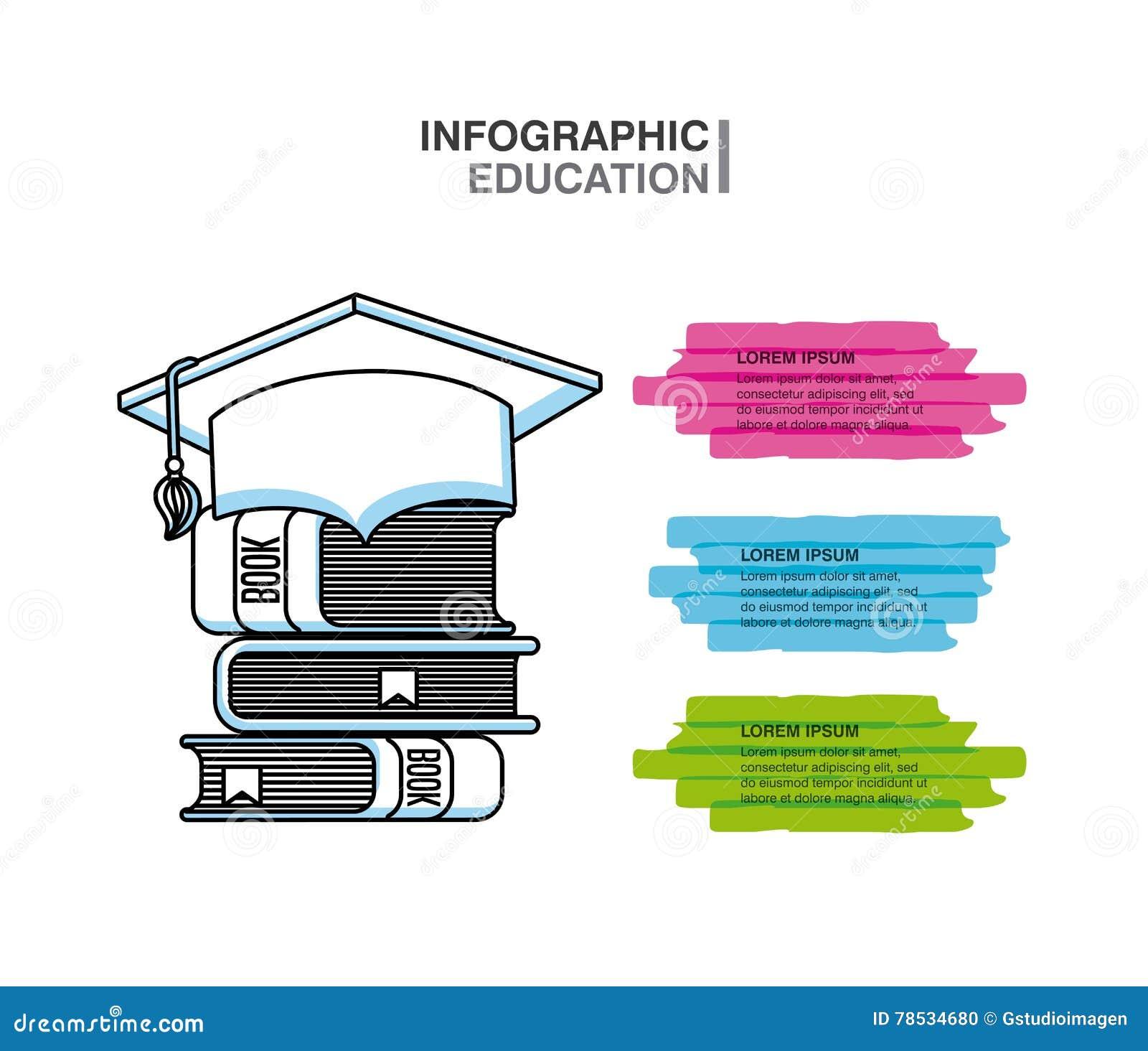 infographic education presentation icons stock illustration