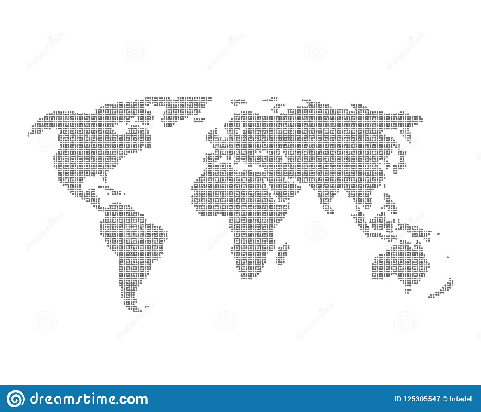 infographic element with grey global world map stock vector
