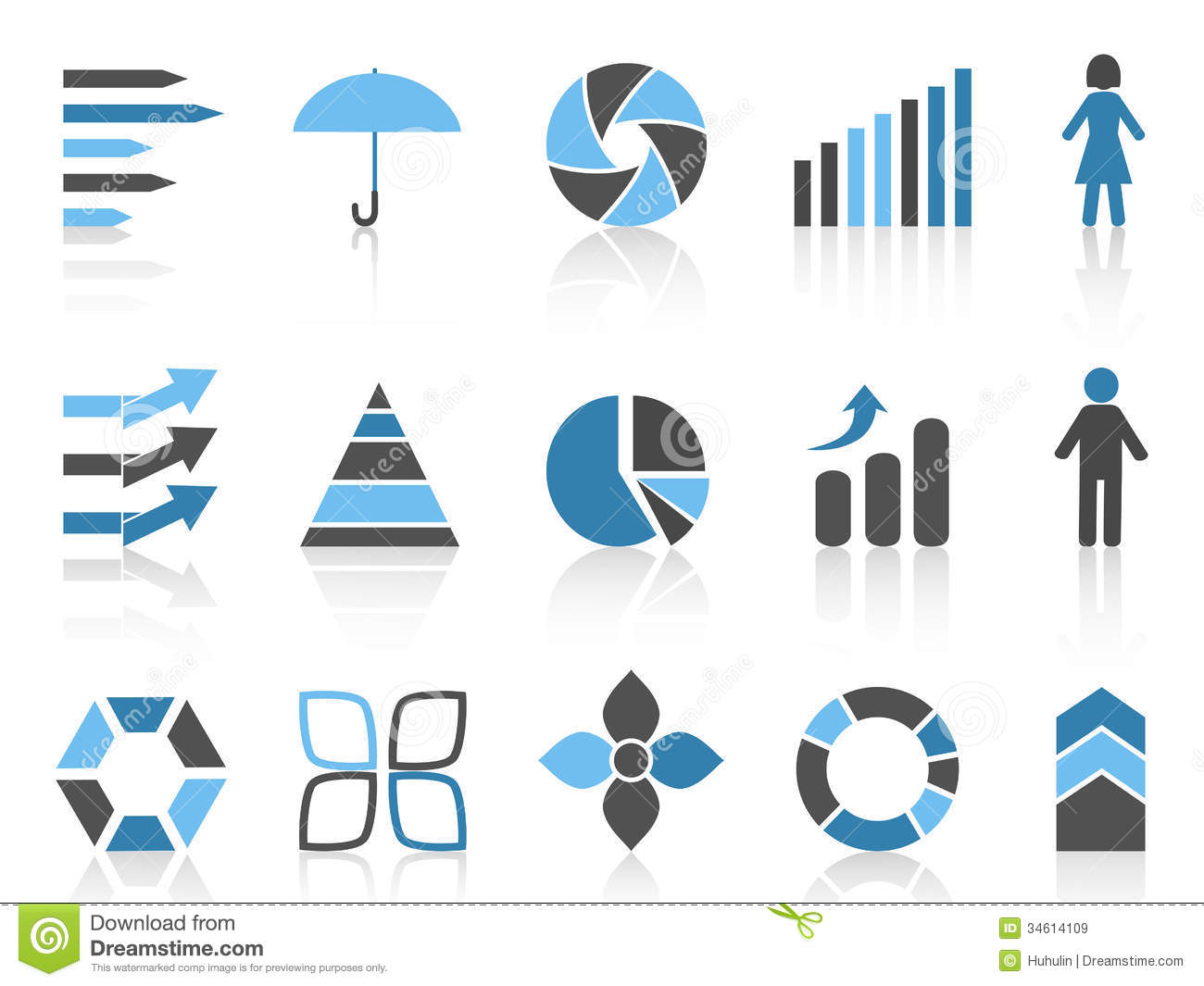 infographic element icons set stock vector illustration of diagram