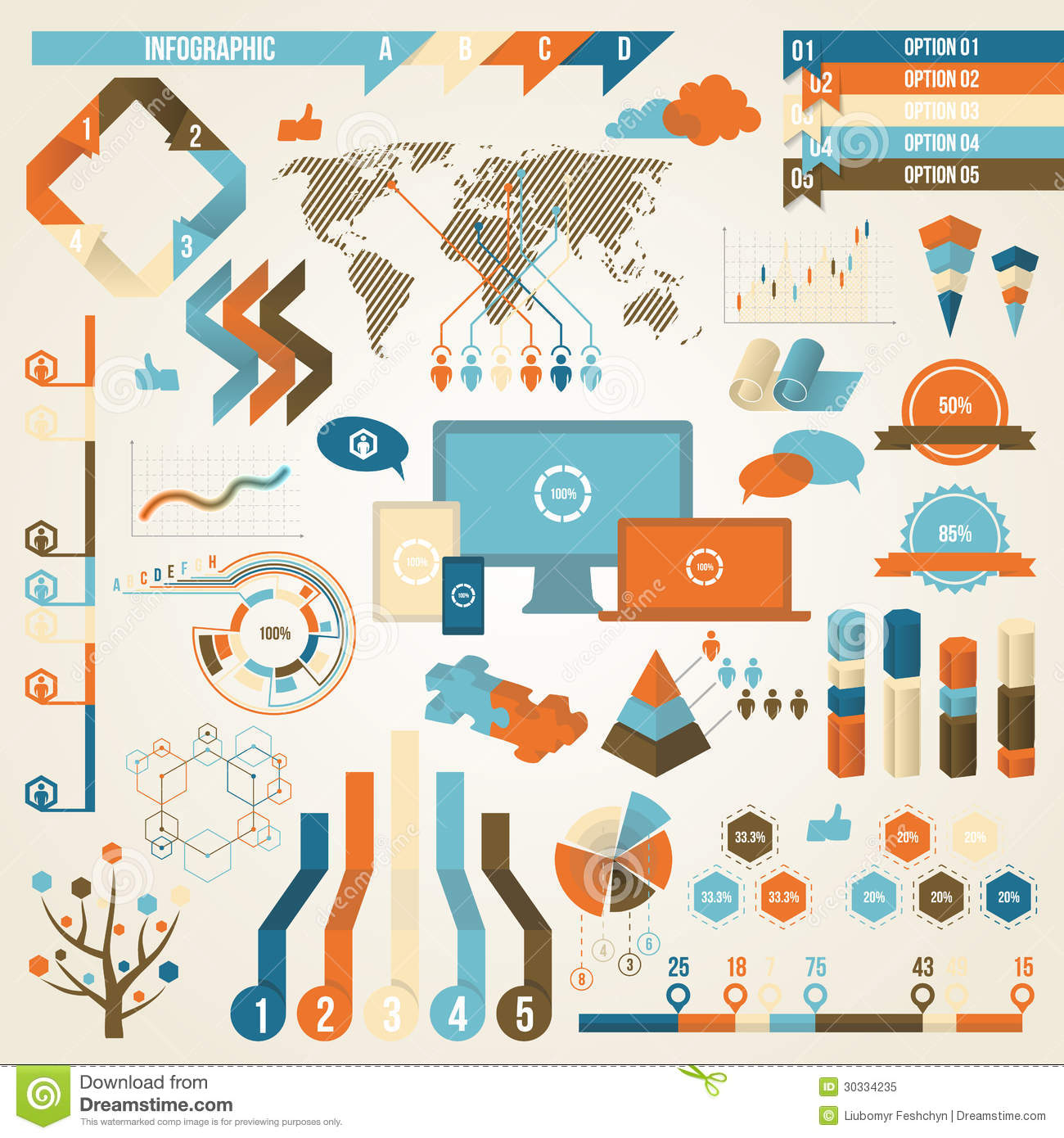 Info Graphic Elements And Communication Concept Vector Design Symbol