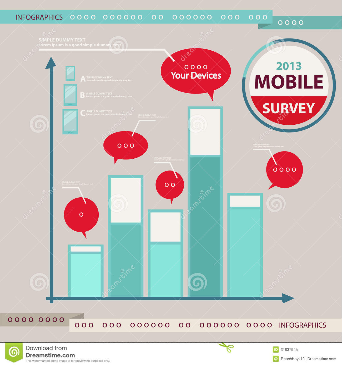 Infographic Elements Mobile Phone Devices Royalty Free