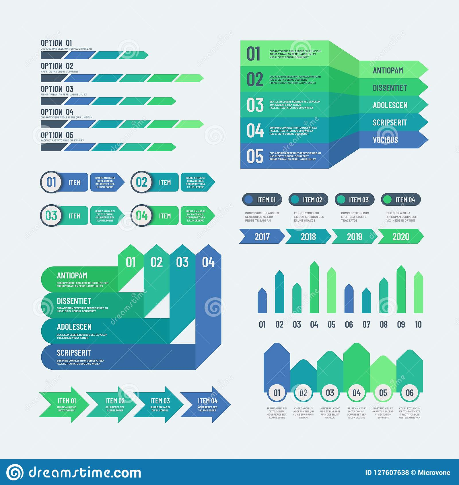 Set Of Elements For Infographics Charts Graphs Diagrams Wiring Diagram