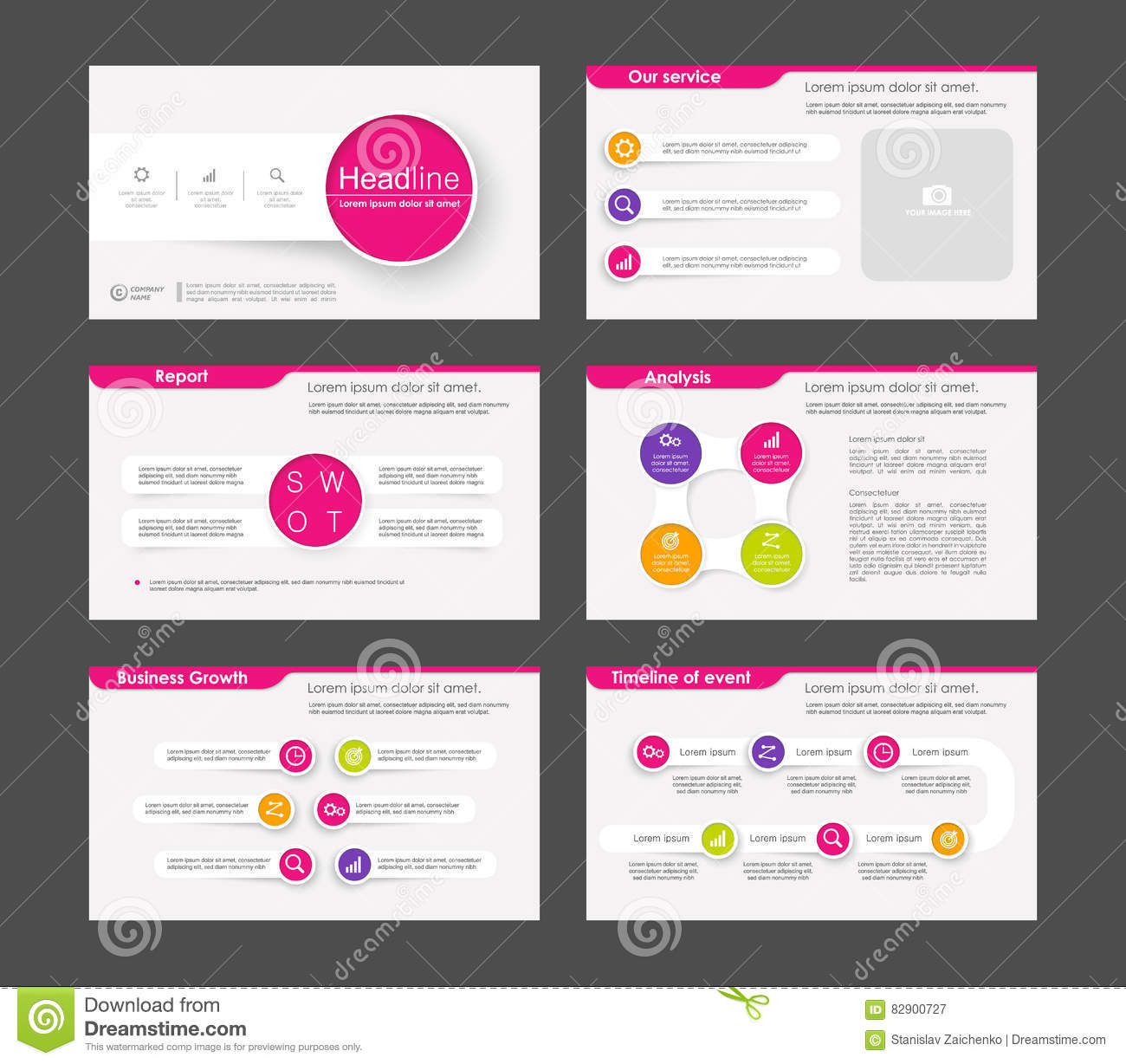 powerpoint presentation template background stock vector