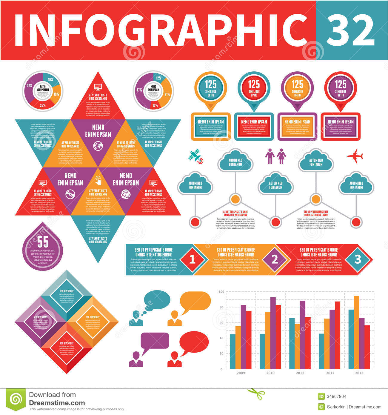 Infographic Elements 32 Stock Images - Image: 34807804