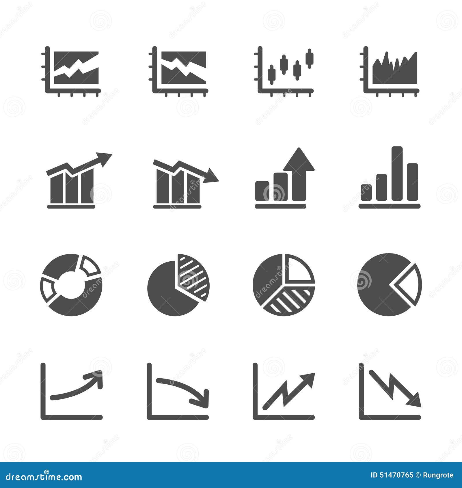 Infographic en grafiek het pictogram plaatste 5, eps10
