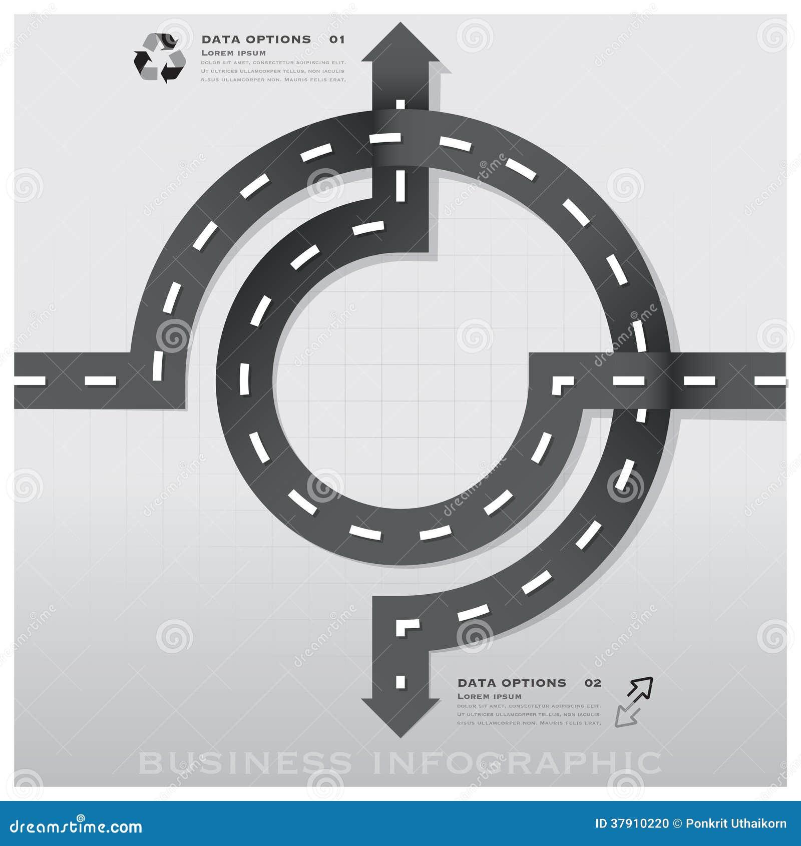Infographic för affär för väg- och gatatrafiktecken design Templat