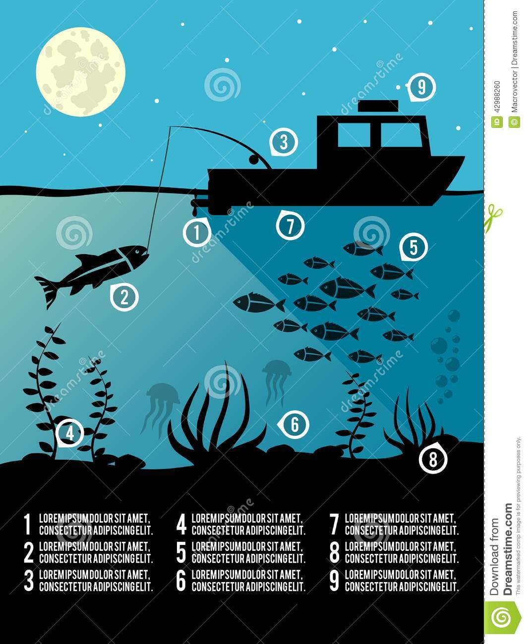 Fishing poster calendar 2012 tarpon fish royalty free for Fishing times free
