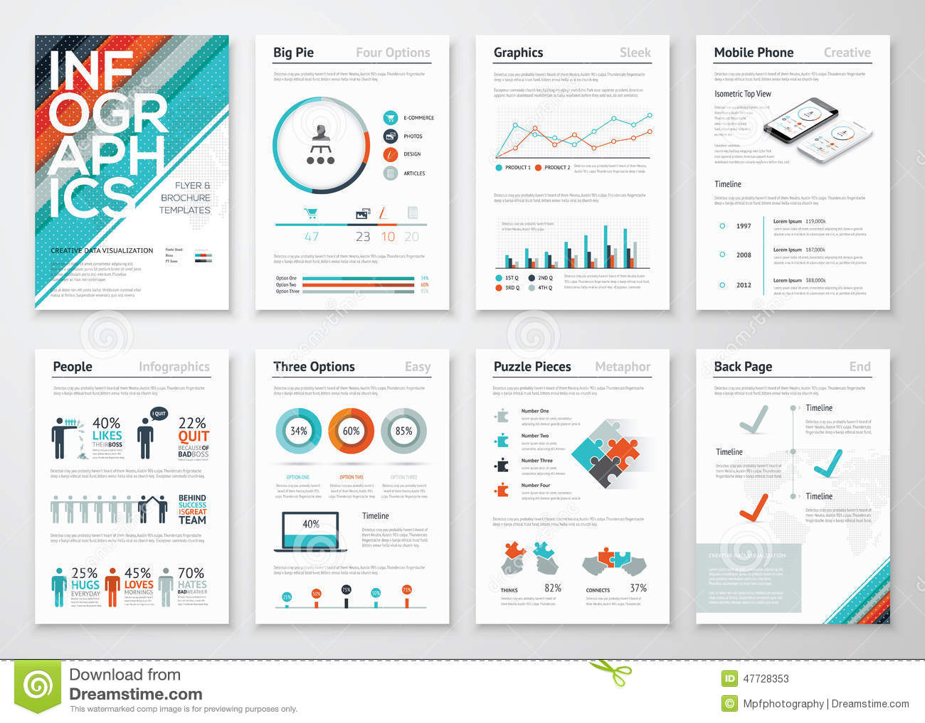 Infographic Flyer And Brochure Elements For Business Data