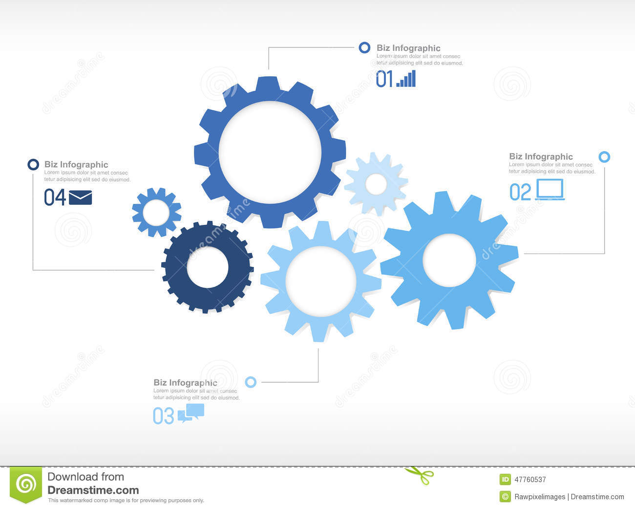 Infographic Gear Engine Design Technology Concept Stock