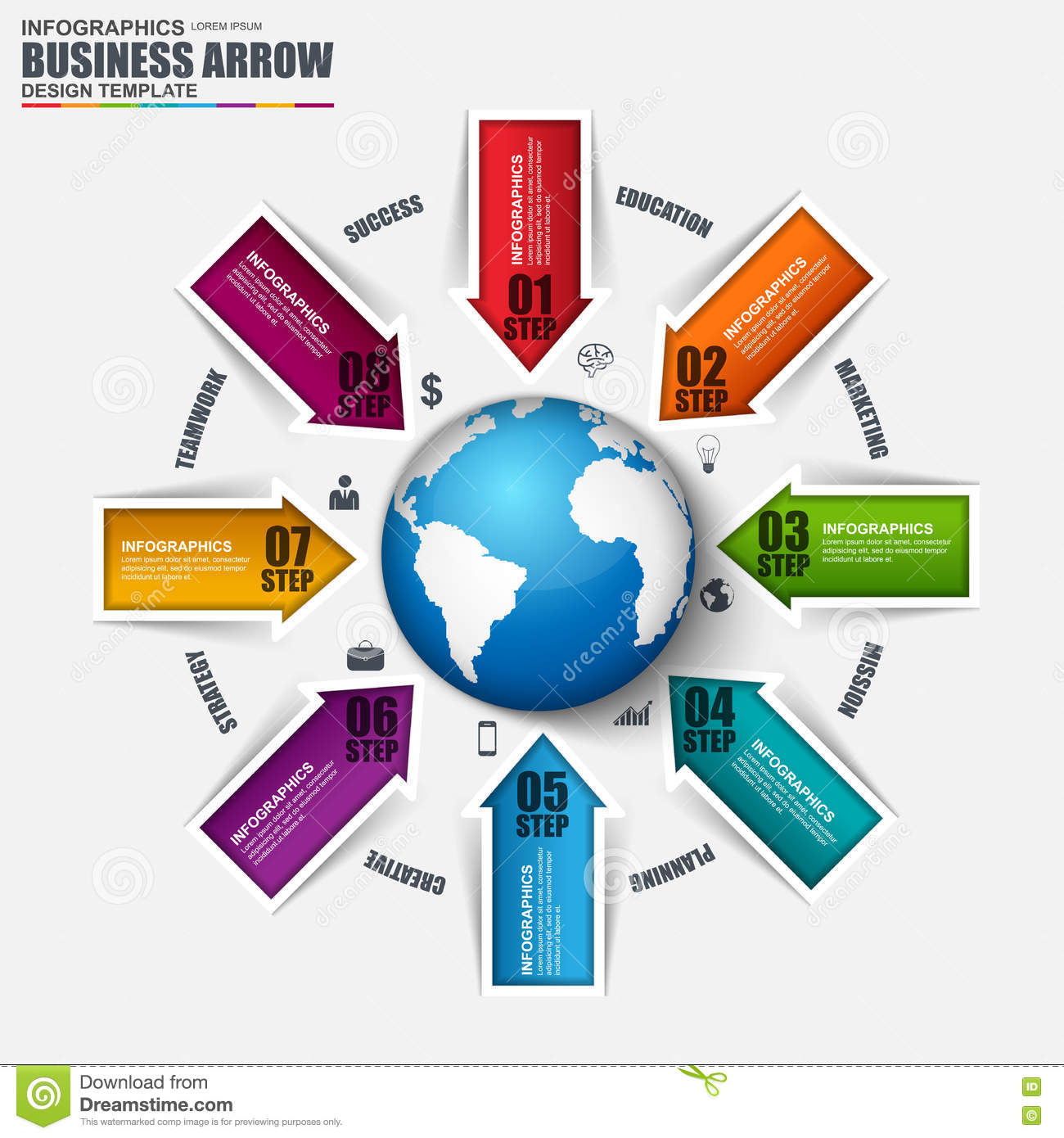 Infographic Global Business Vector Design Template Stock Vector ...