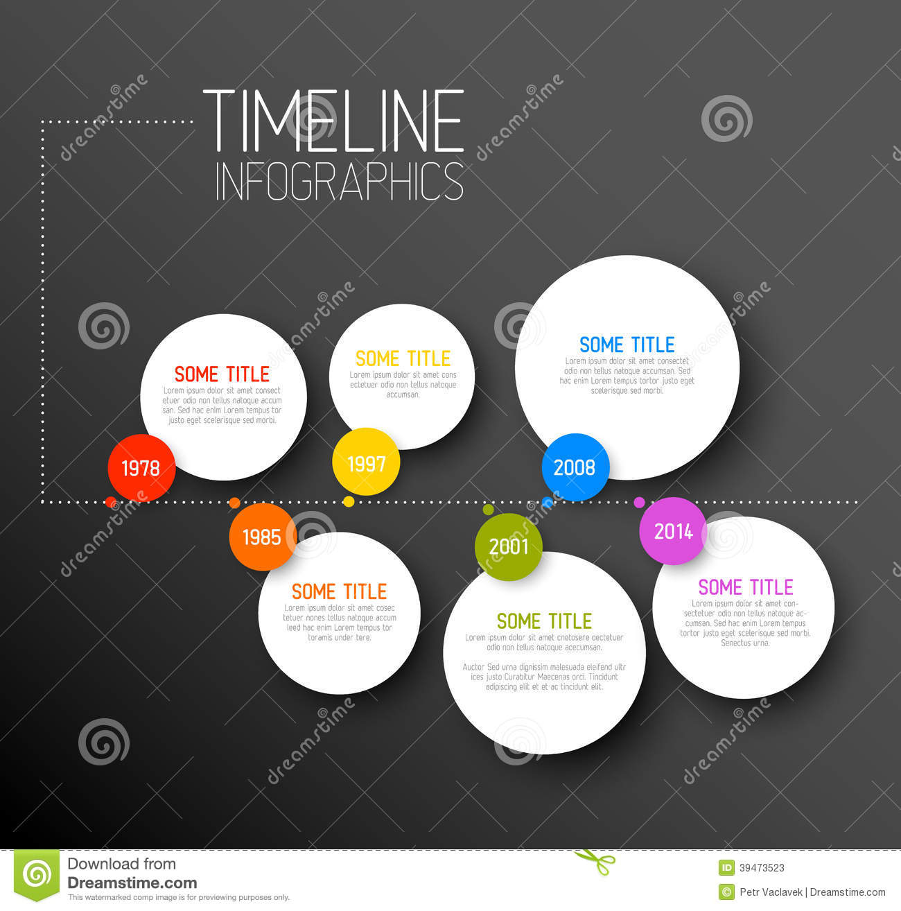 Infographic Modern Horizontal Timeline Design Template. Icons ...