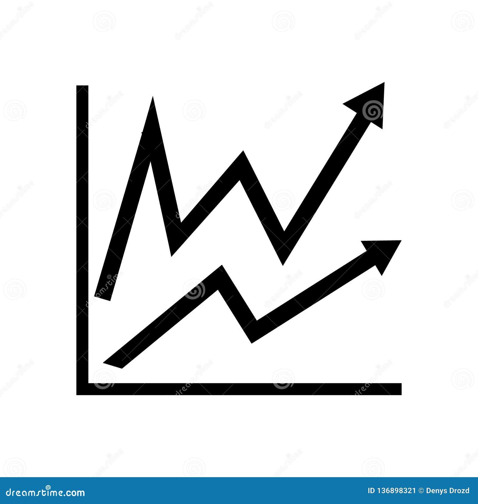 Infographic Icono de la carta Símbolo cada vez mayor del gráfico