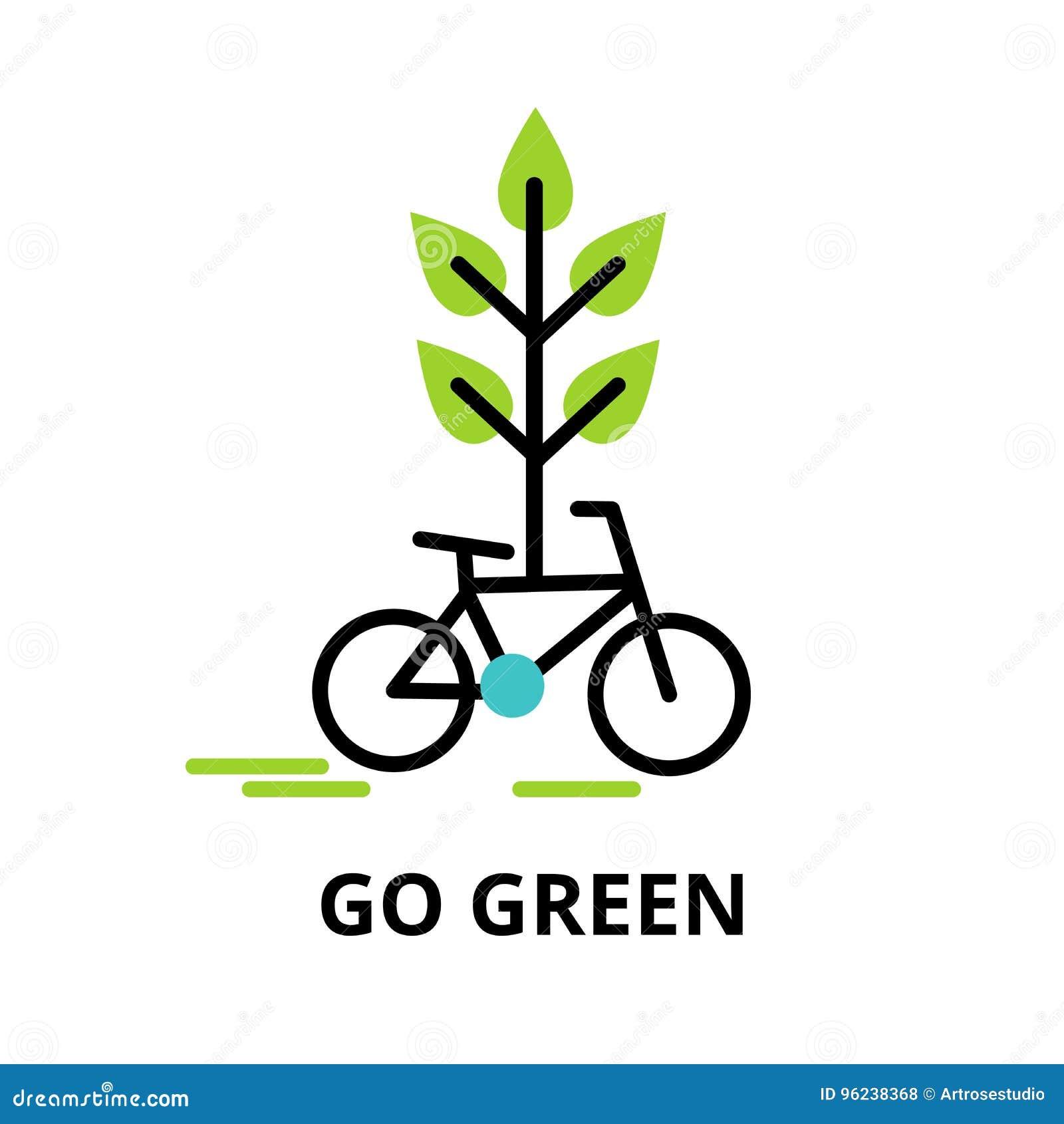 Infographic-Konzept von gehen Grün, Rettungsnatur und Alternative e