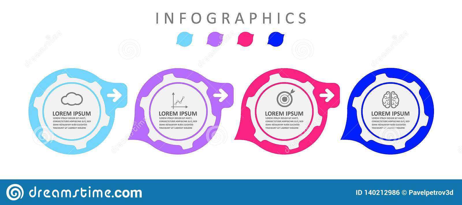 Infographic label design template with icons. Business data visualization Can be used for process diagram, presentations, workflow