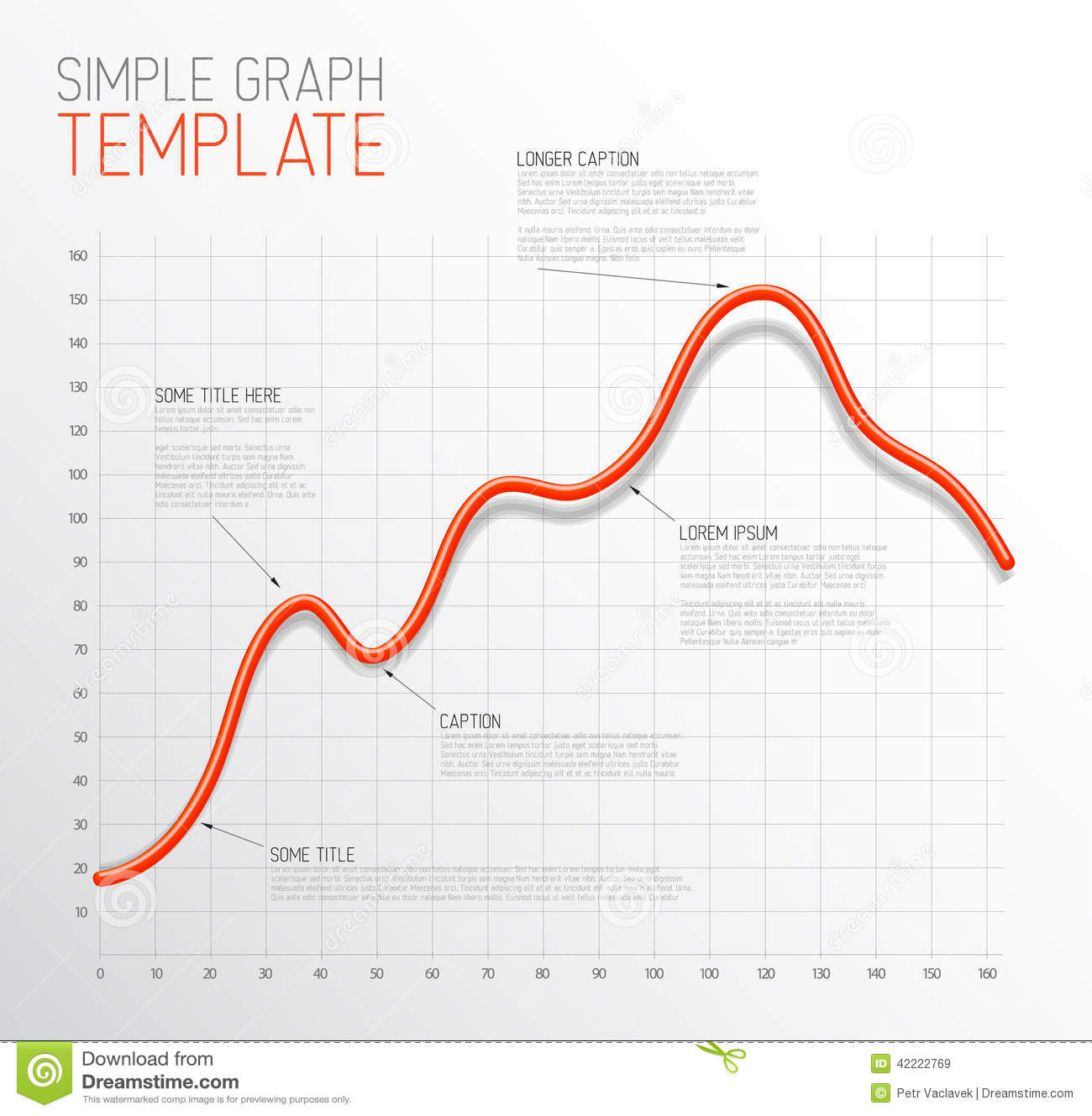 Infographic line graph
