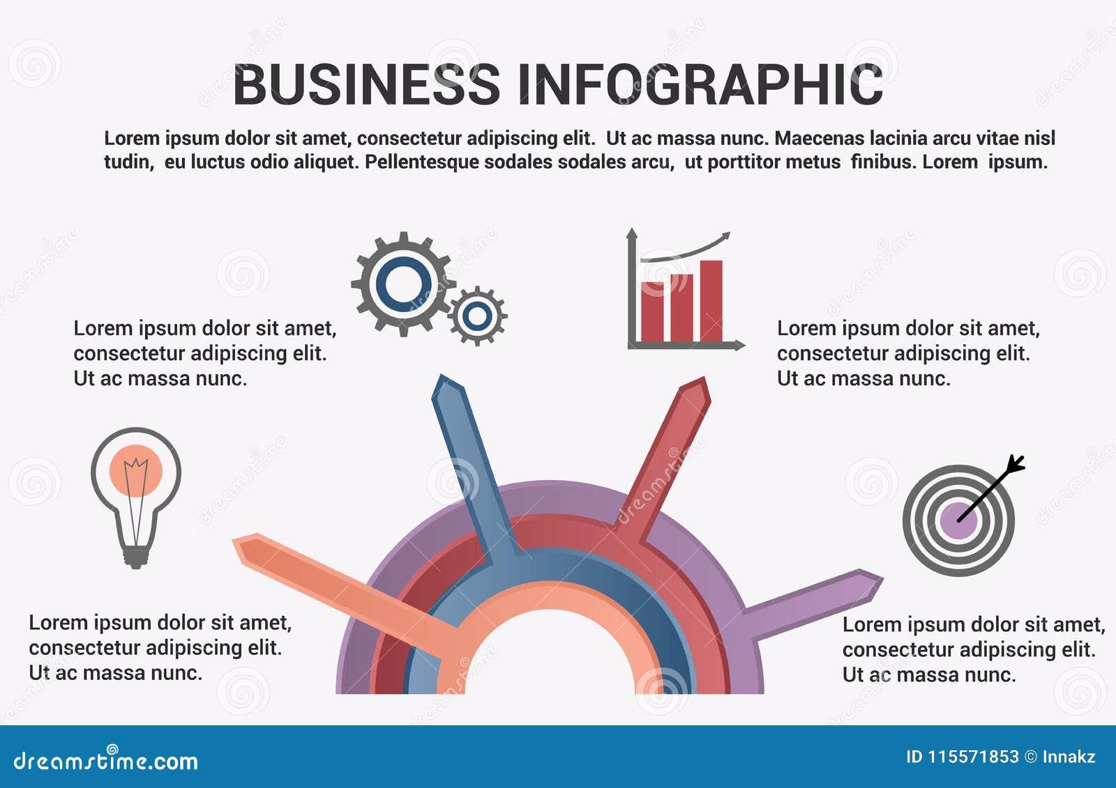 Infographic mall för affär