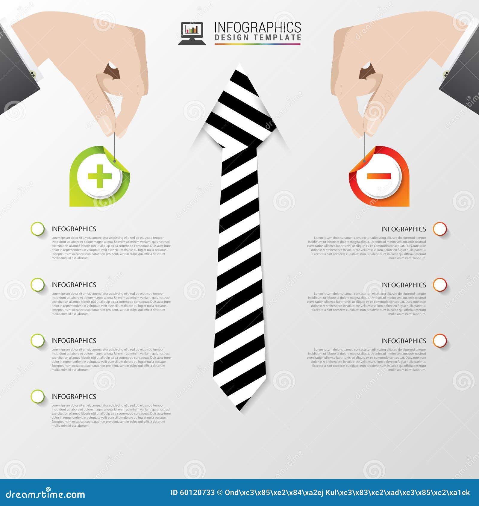 Infographic mall för affär modern design lurar pros också vektor för coreldrawillustration