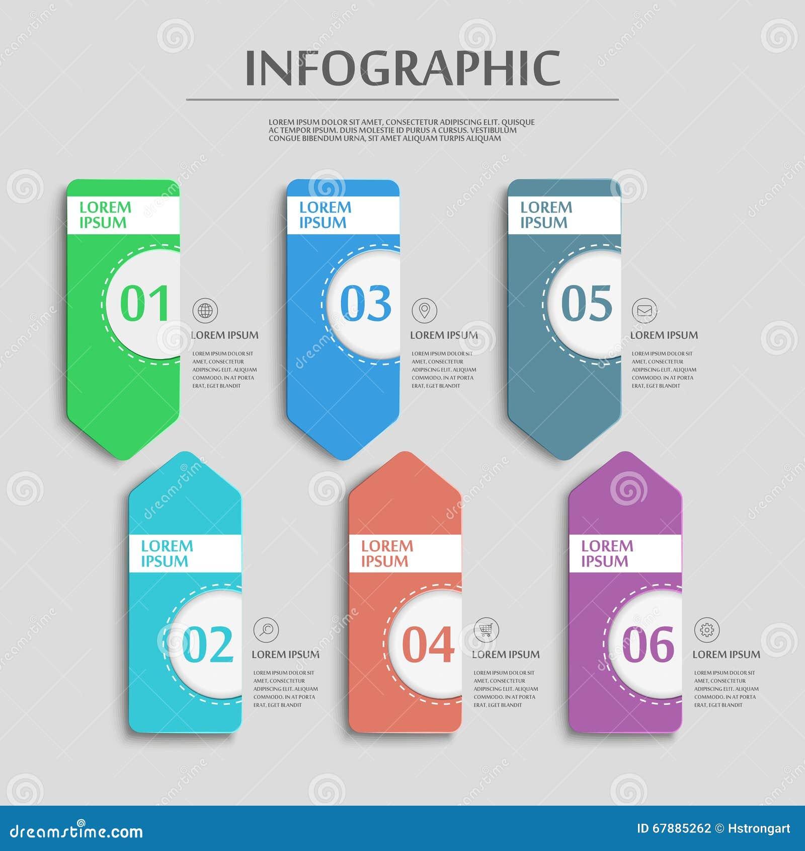 Infographic mall för enkelhet