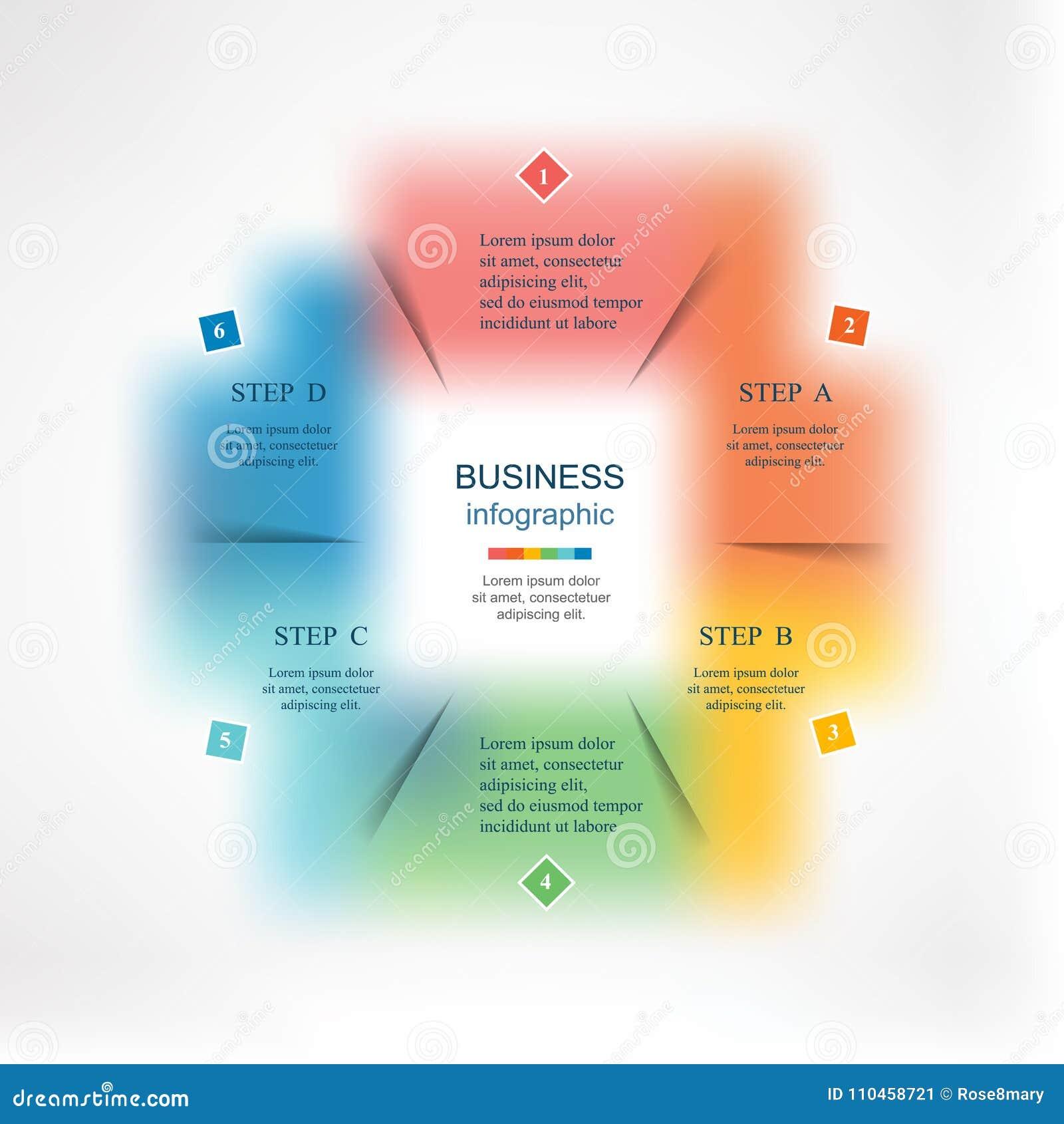 Infographic mall för vektor