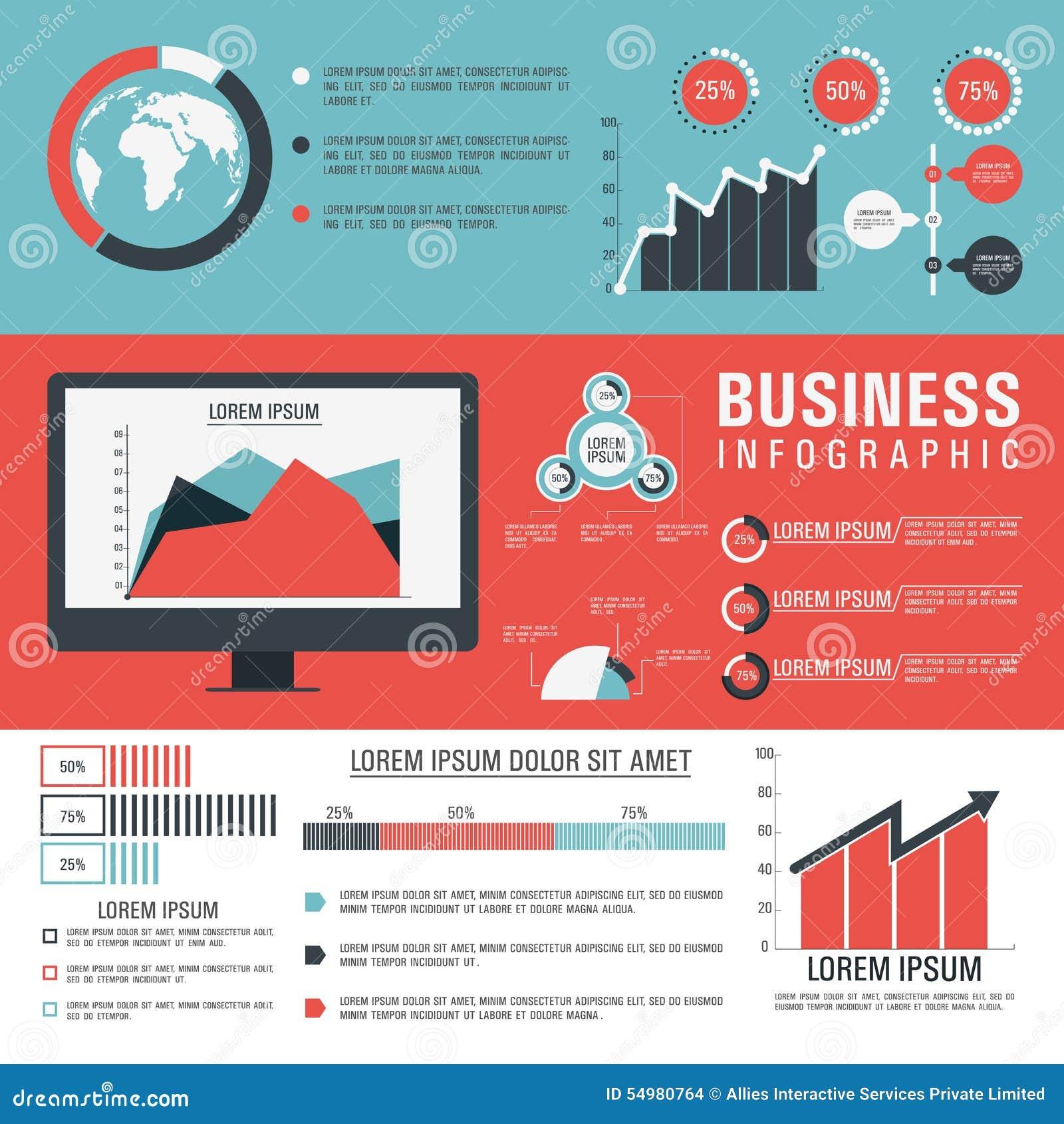 Infographic mallorientering för affär