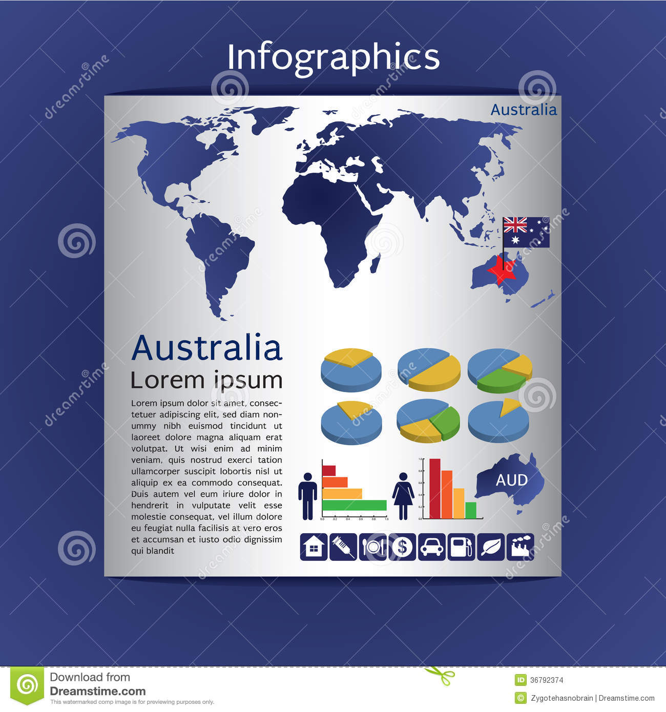 Infographic Map Of Australia Images Image 36792374 – Show Map of Australia