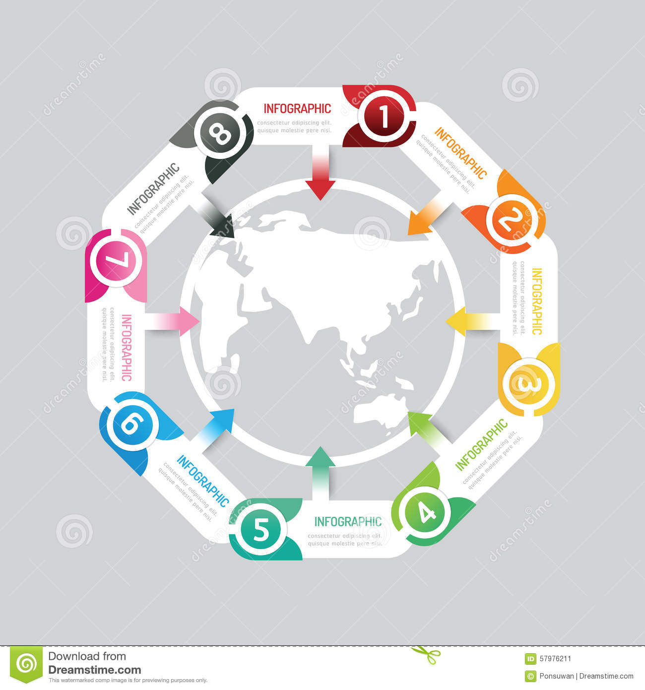 Infographic modern banner button with world map icon design stock download comp gumiabroncs Choice Image