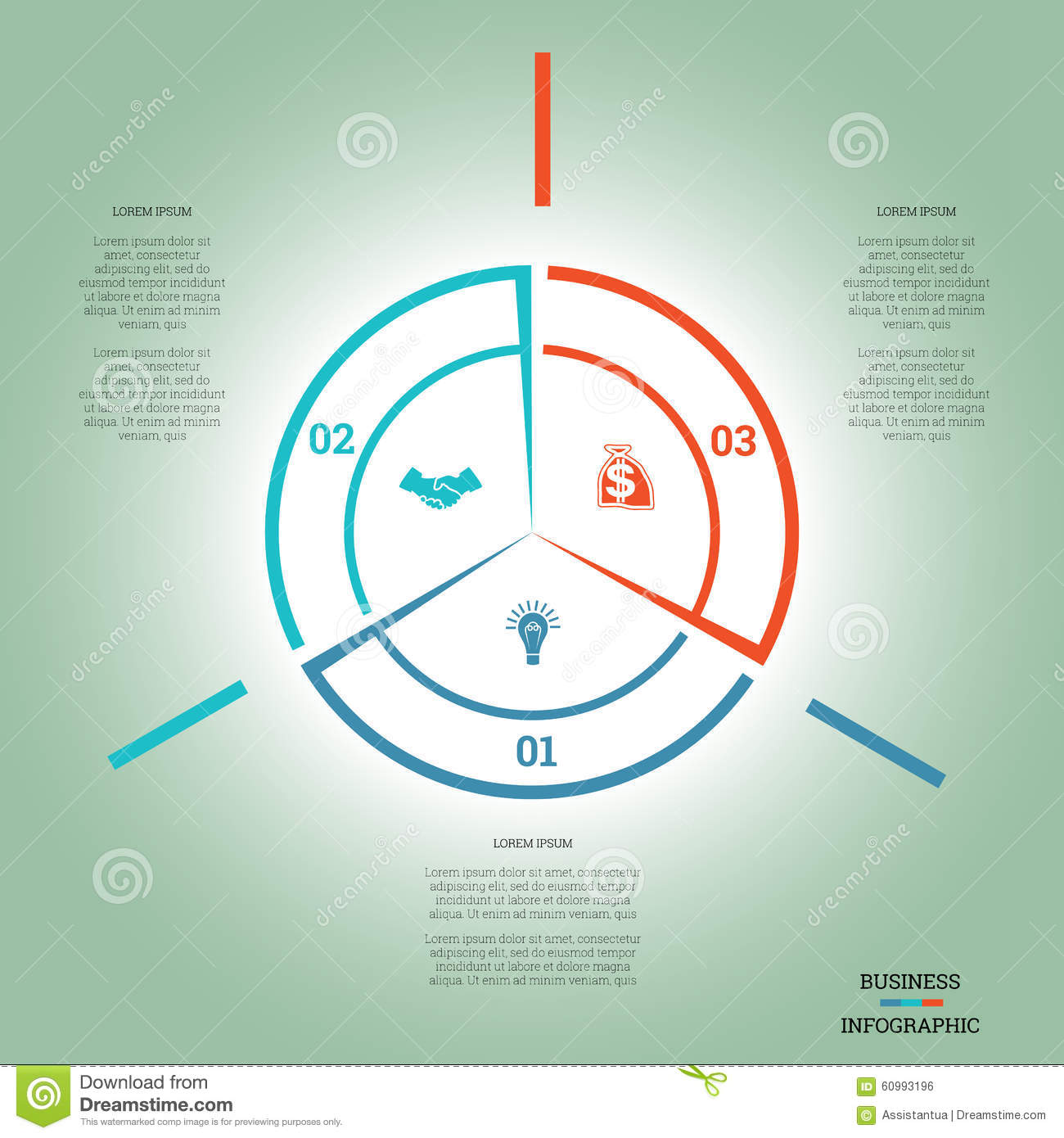 Infographic pie chart template colourful circle three positions infographic pie chart template colourful circle three positions nvjuhfo Choice Image