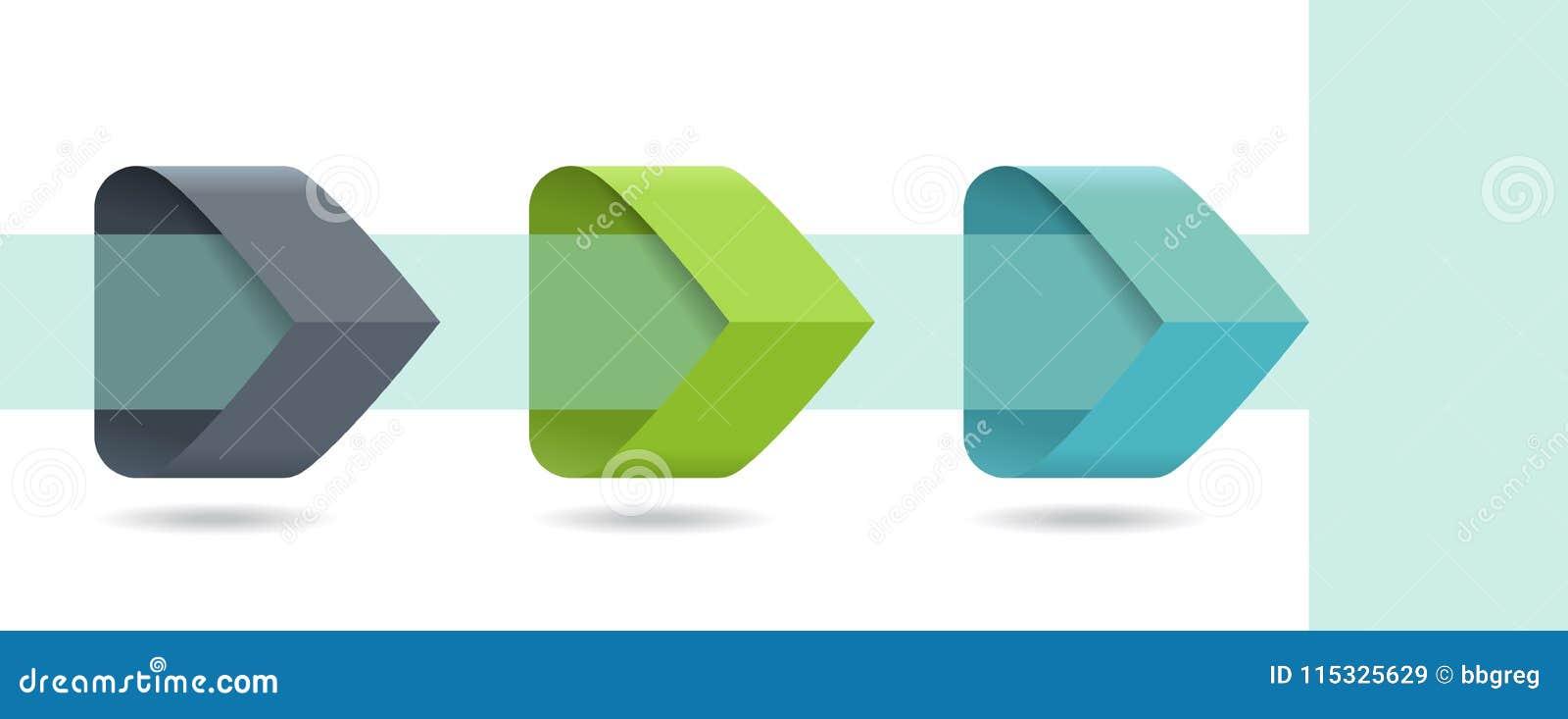 Infographic pilar med moment 3 upp alternativ och glass beståndsdelar Mall i plan designstil