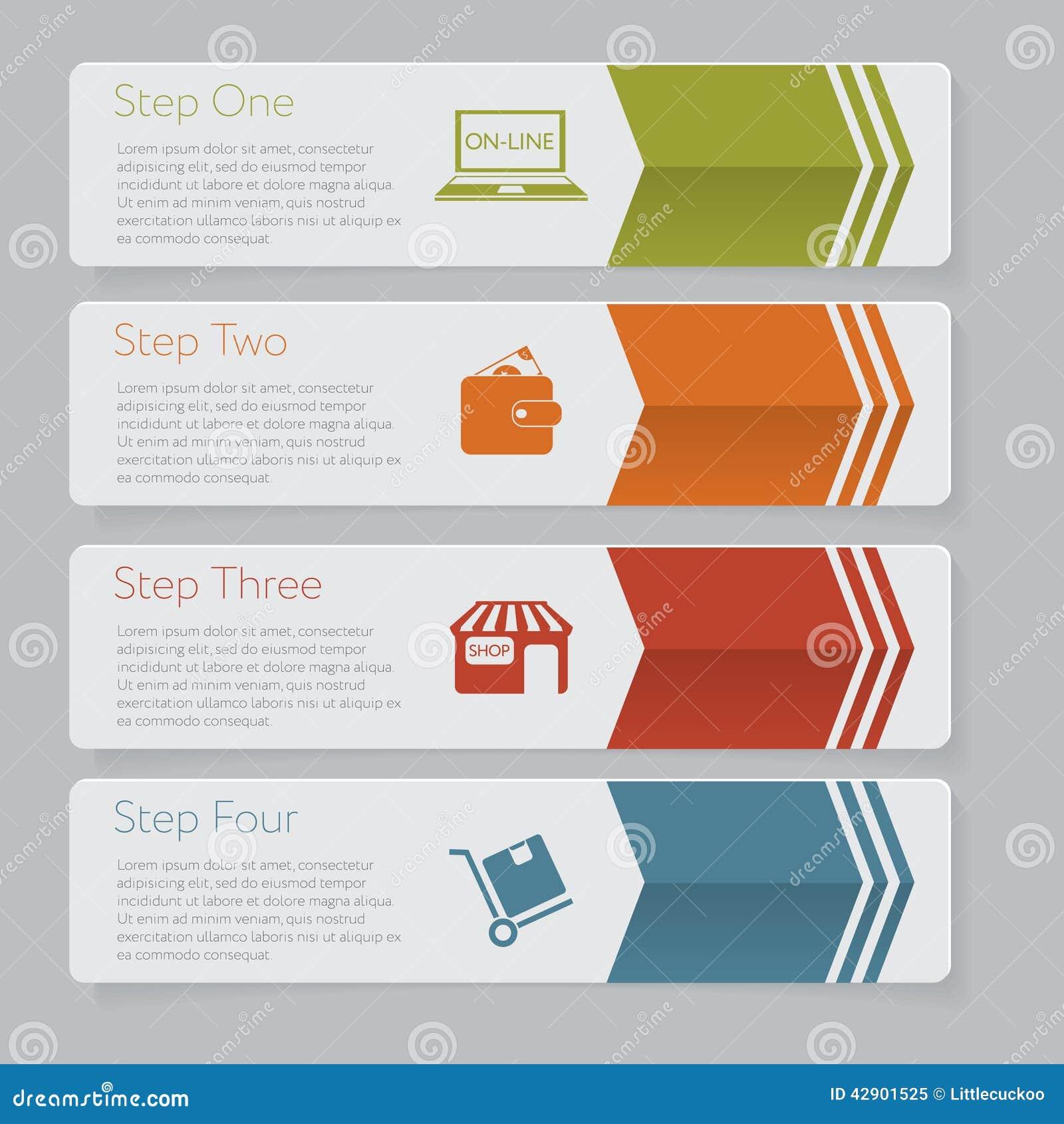 Infographic Planlägg diagrammet för nummerbanermallen eller websiteorienteringen