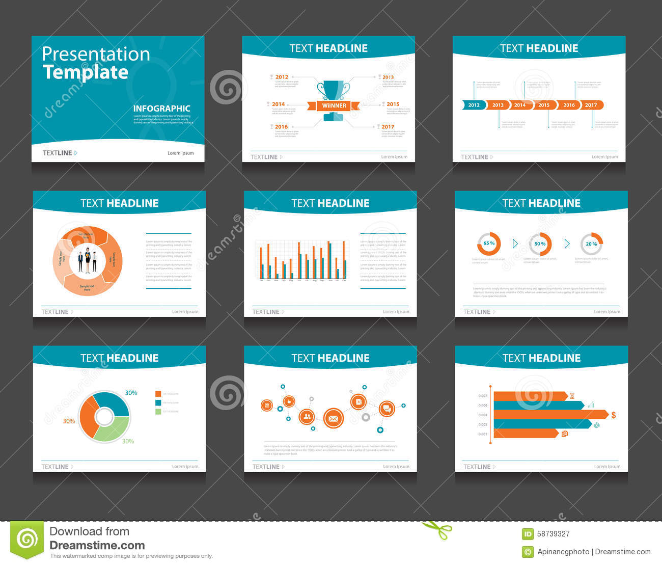 infographic powerpoint template design backgrounds business