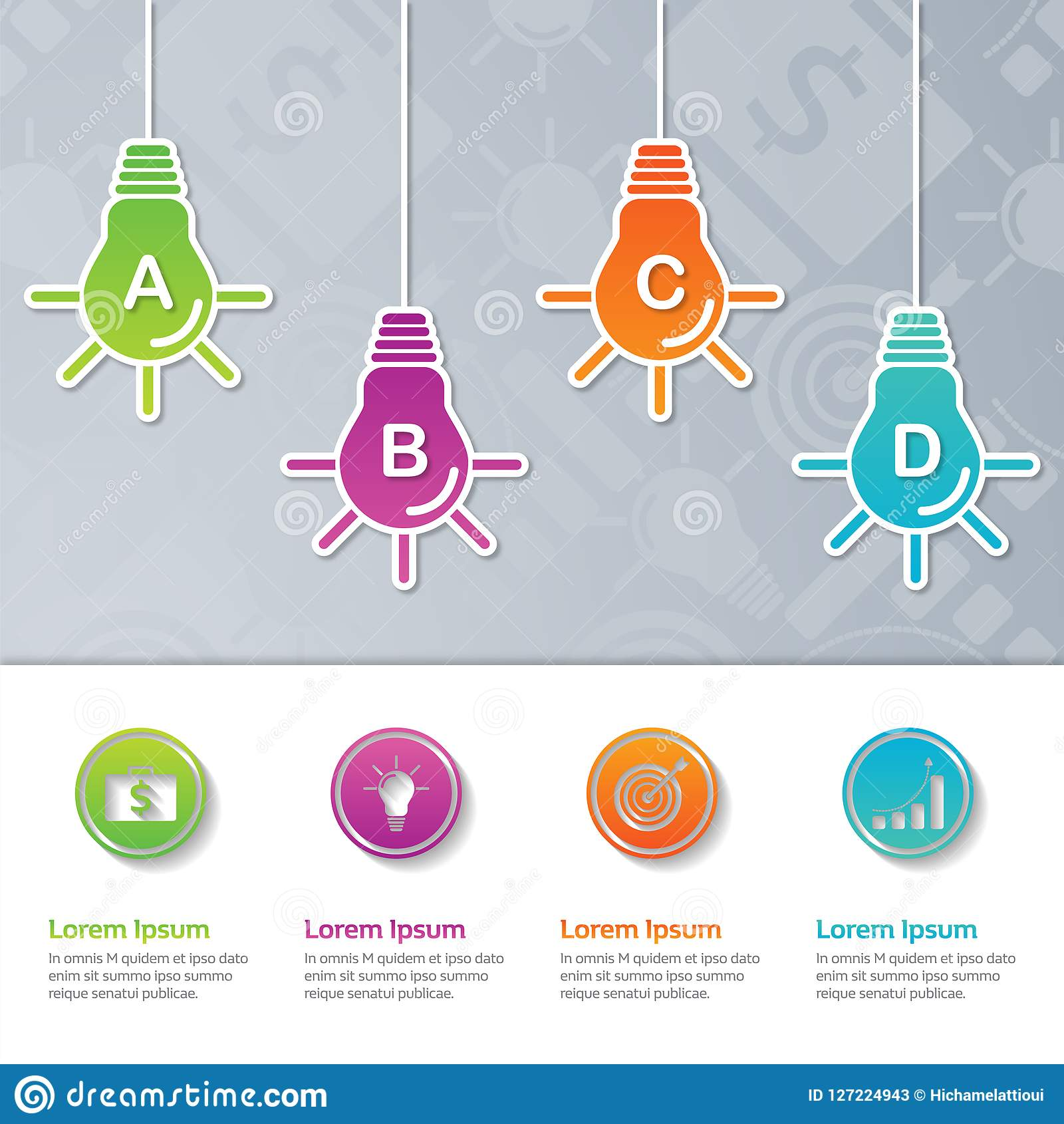 Infographic presentation template design,Business concept with 4 steps or processes,