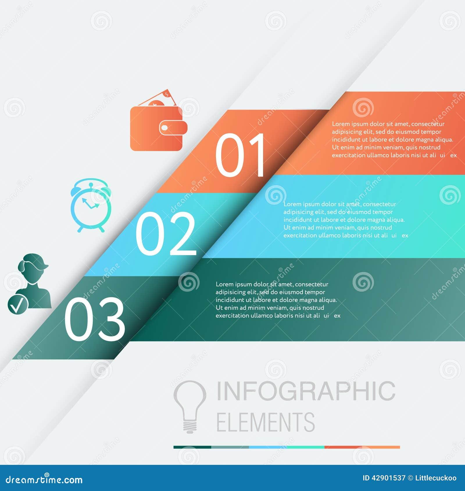 Infographic Progetti il grafico del modello delle insegne di numero o la disposizione del sito Web