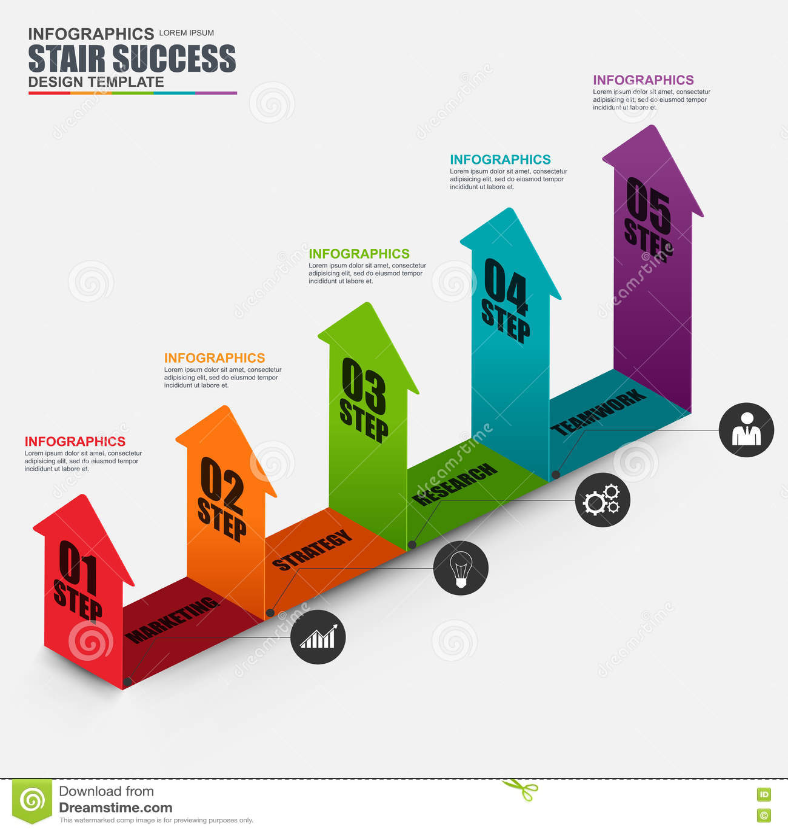 Infographic projekta biznesowy isometric strzałkowaty wektorowy szablon