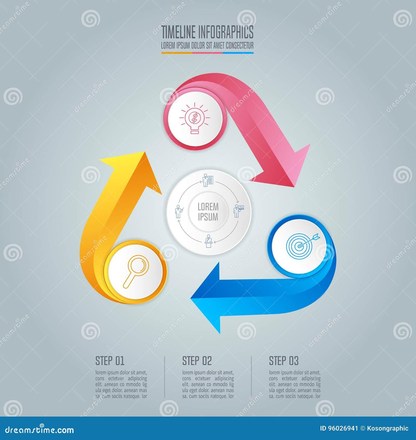 Infographic projekta biznesowy pojęcie z 3 opcjami