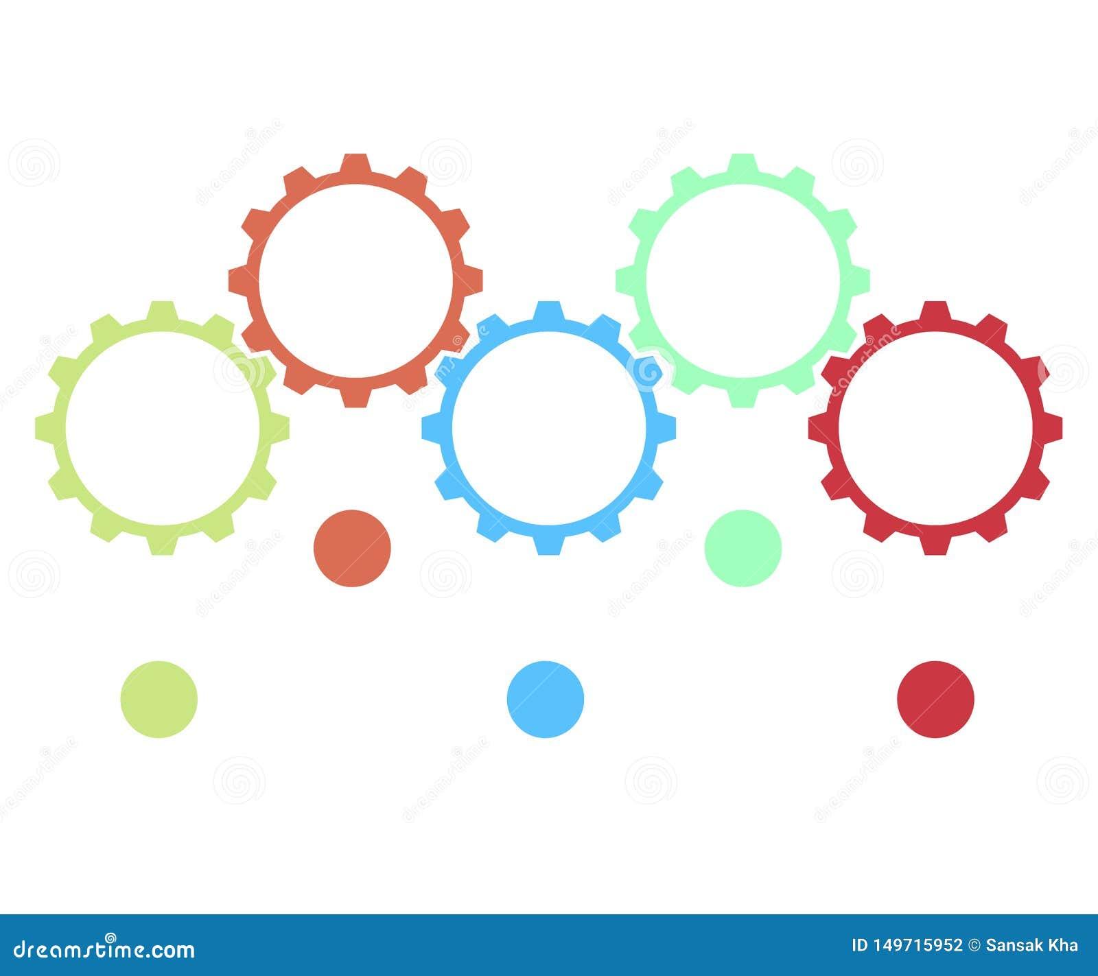 Infographic projekta elementy dla twój biznesowych dane z częściami, krokami, linia czasu lub procesami, okręgu round pojęcie Wek