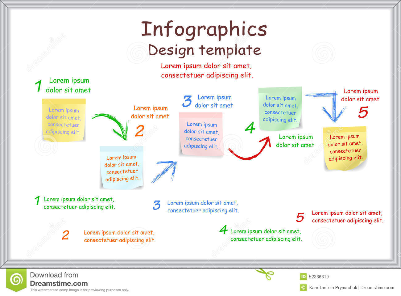 Infographic Report Template With Board And Vector Image – Board Report