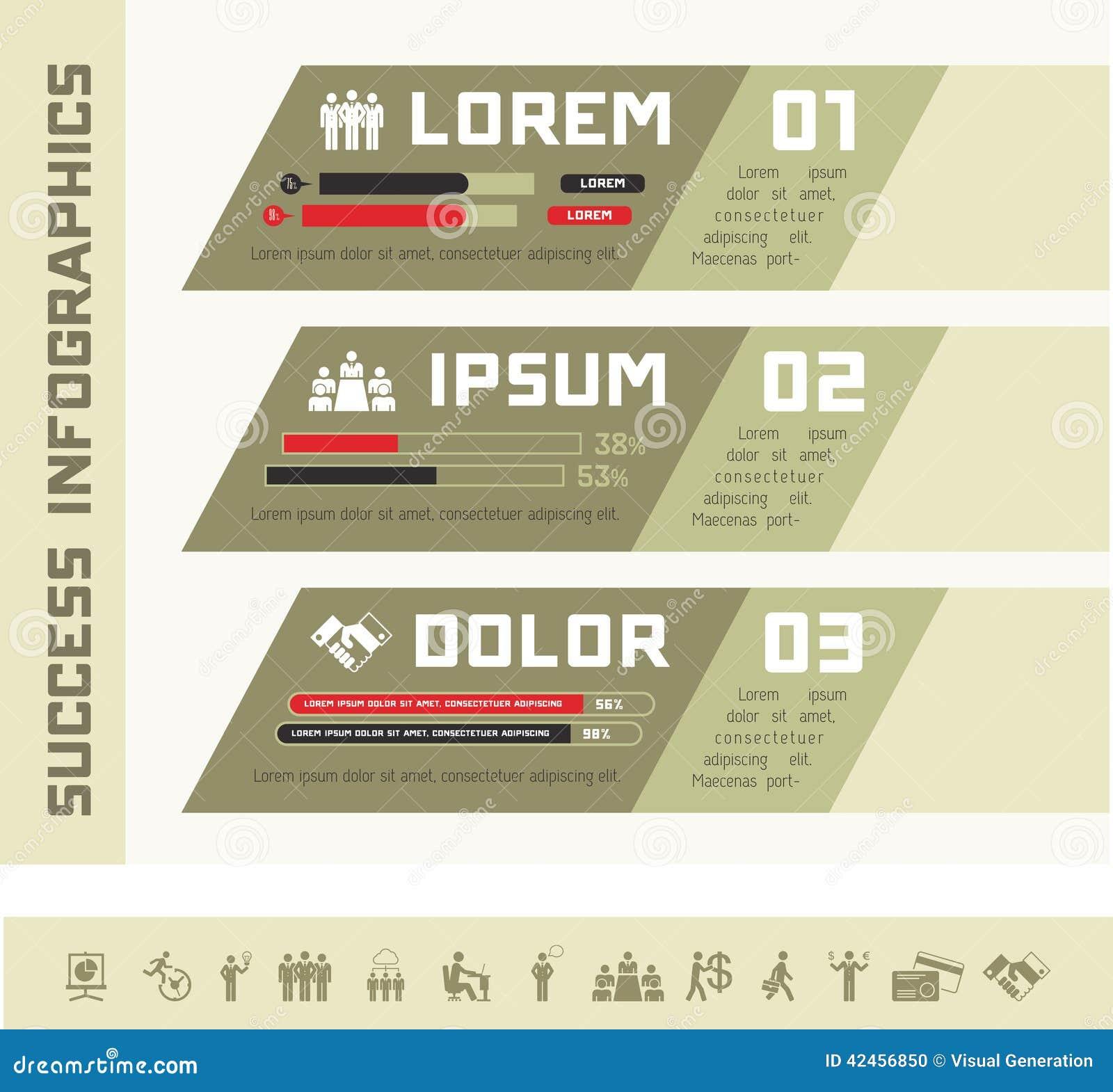 Infographic Schablone des Geschäfts