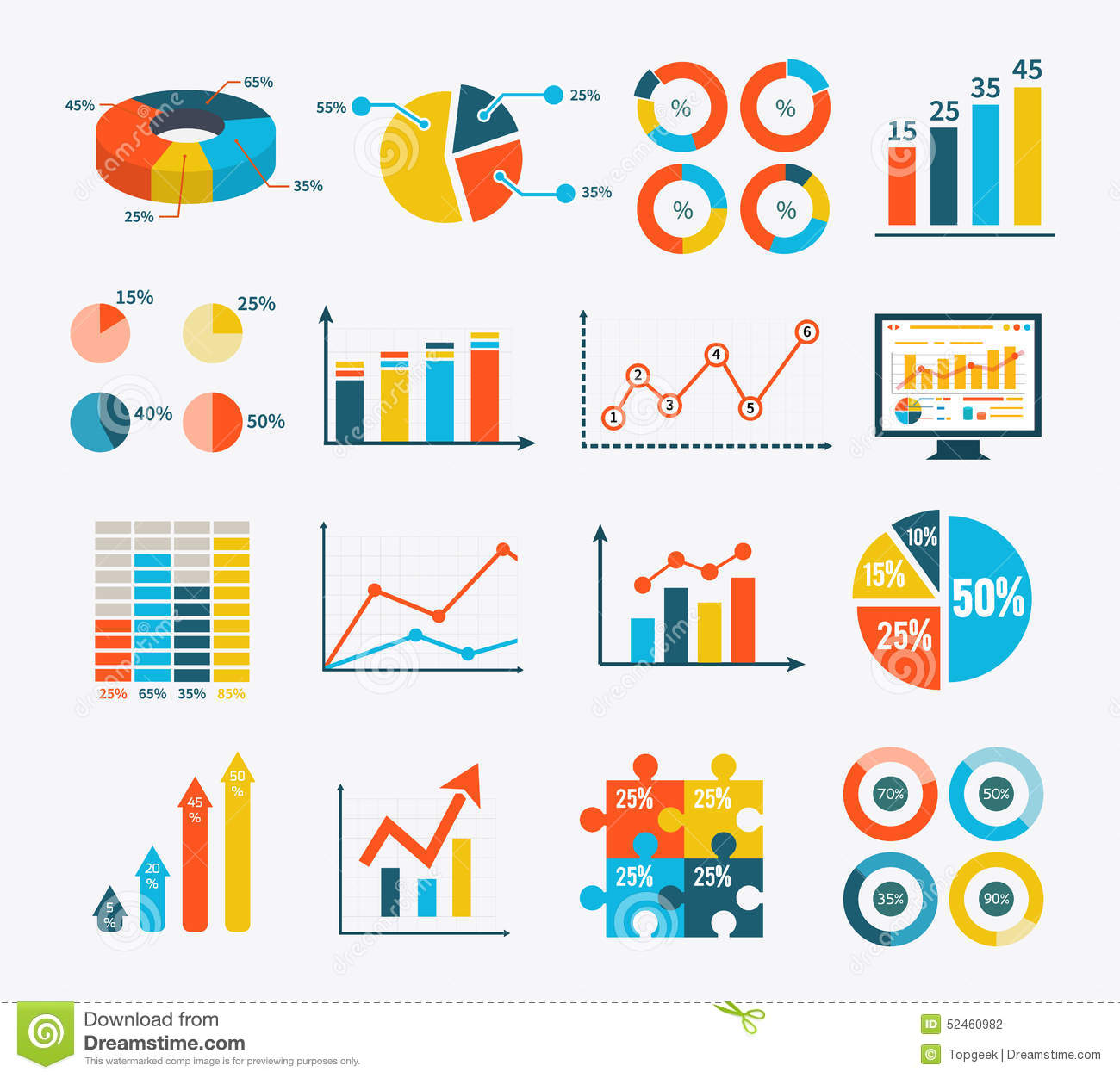 infographic set graph and charts  diagrams stock vector   image    infographic set graph and charts  diagrams