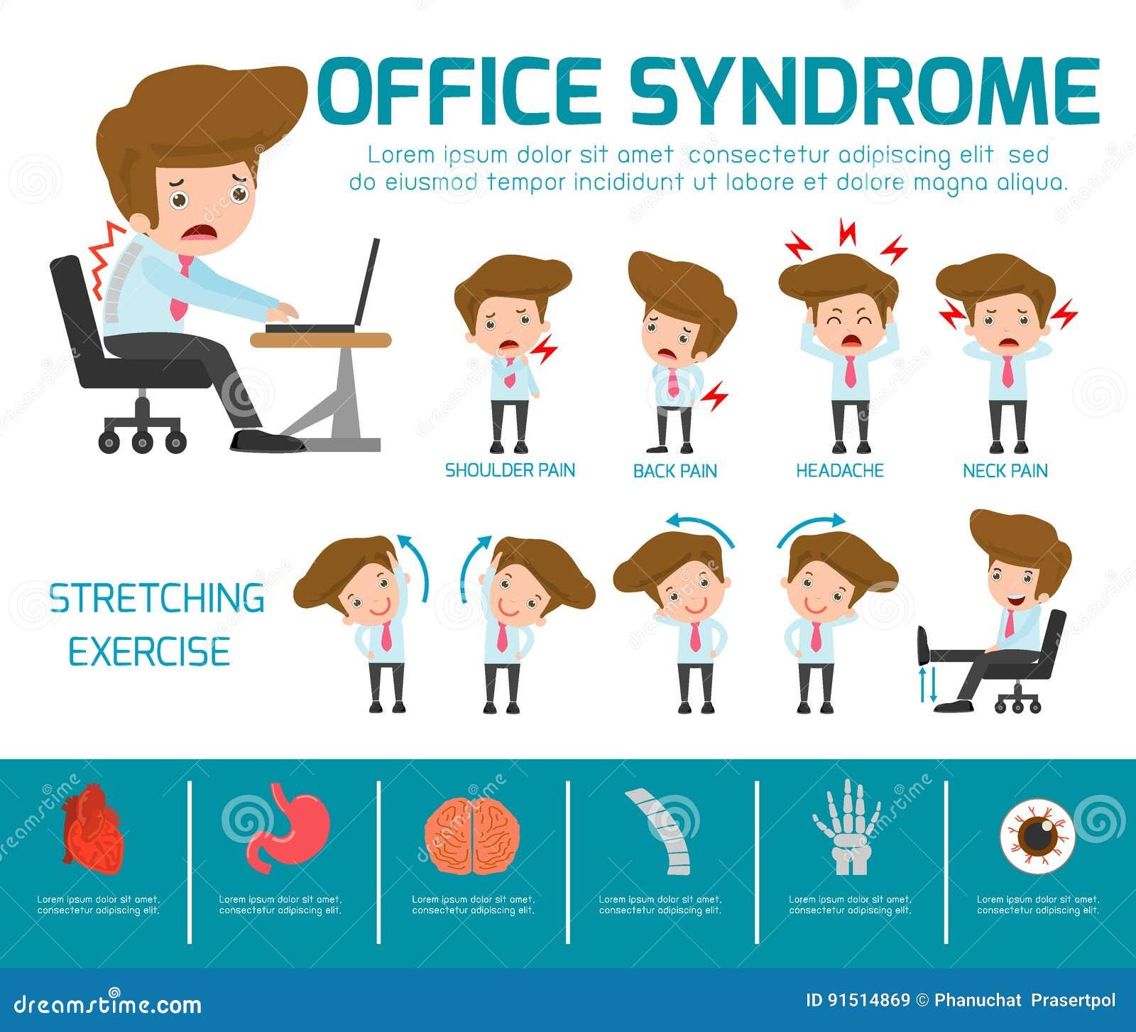 Infographic syndromu szablonu biurowy projekt, jabłczana pojęcia zdrowie miara taśmy Infographic element Wektorowy płaski ikony k