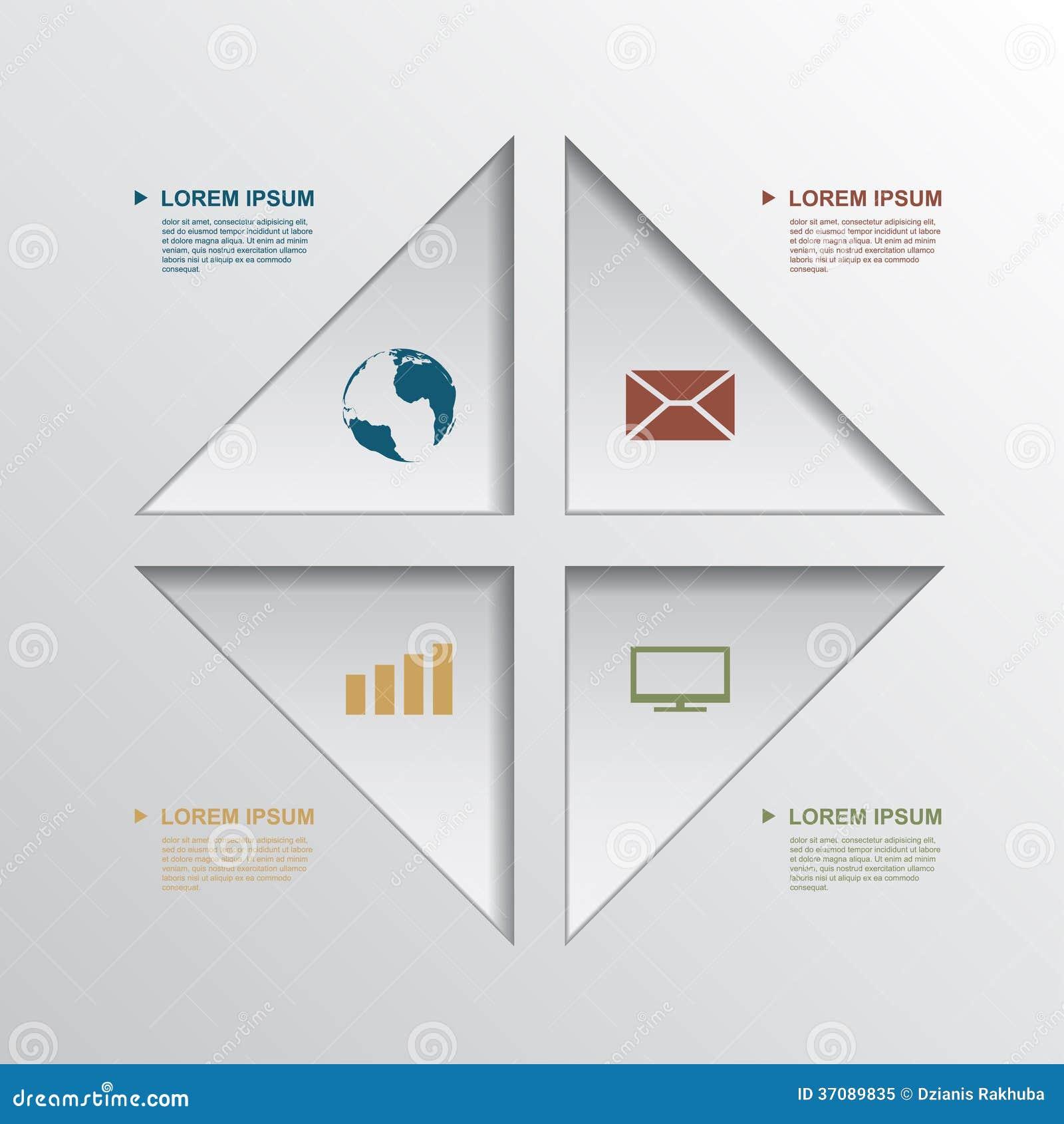 Download Infographic szablon ilustracja wektor. Ilustracja złożonej z sztandar - 37089835