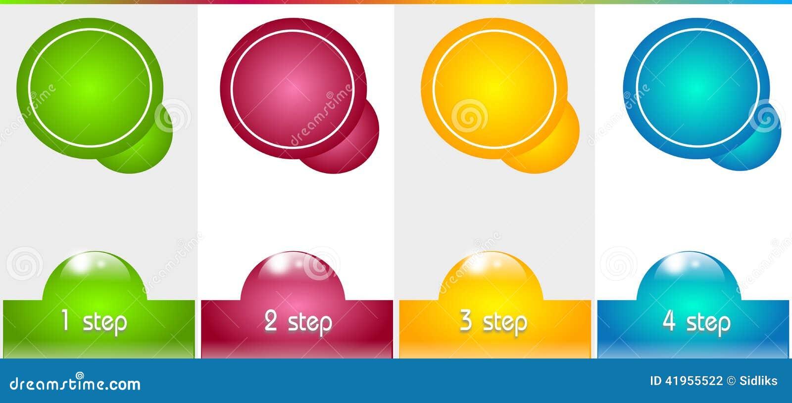 Infographic szablon dla Cztery kroków