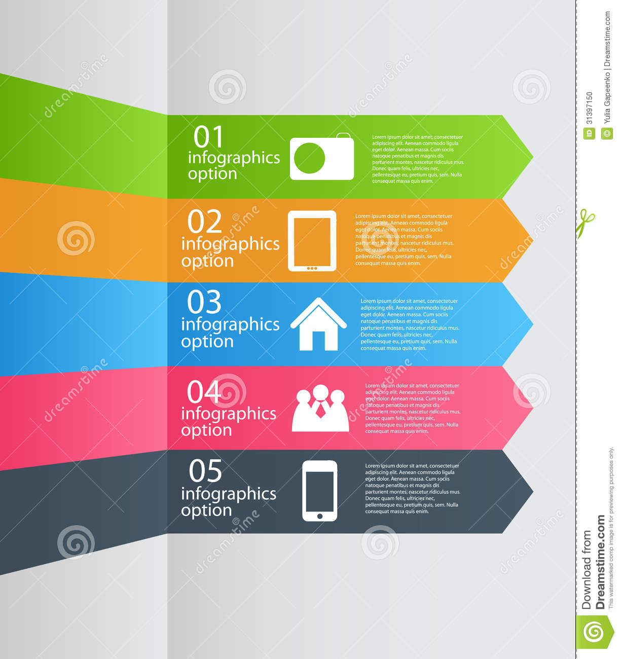 Infographic Template Business Vector Illustration Stock
